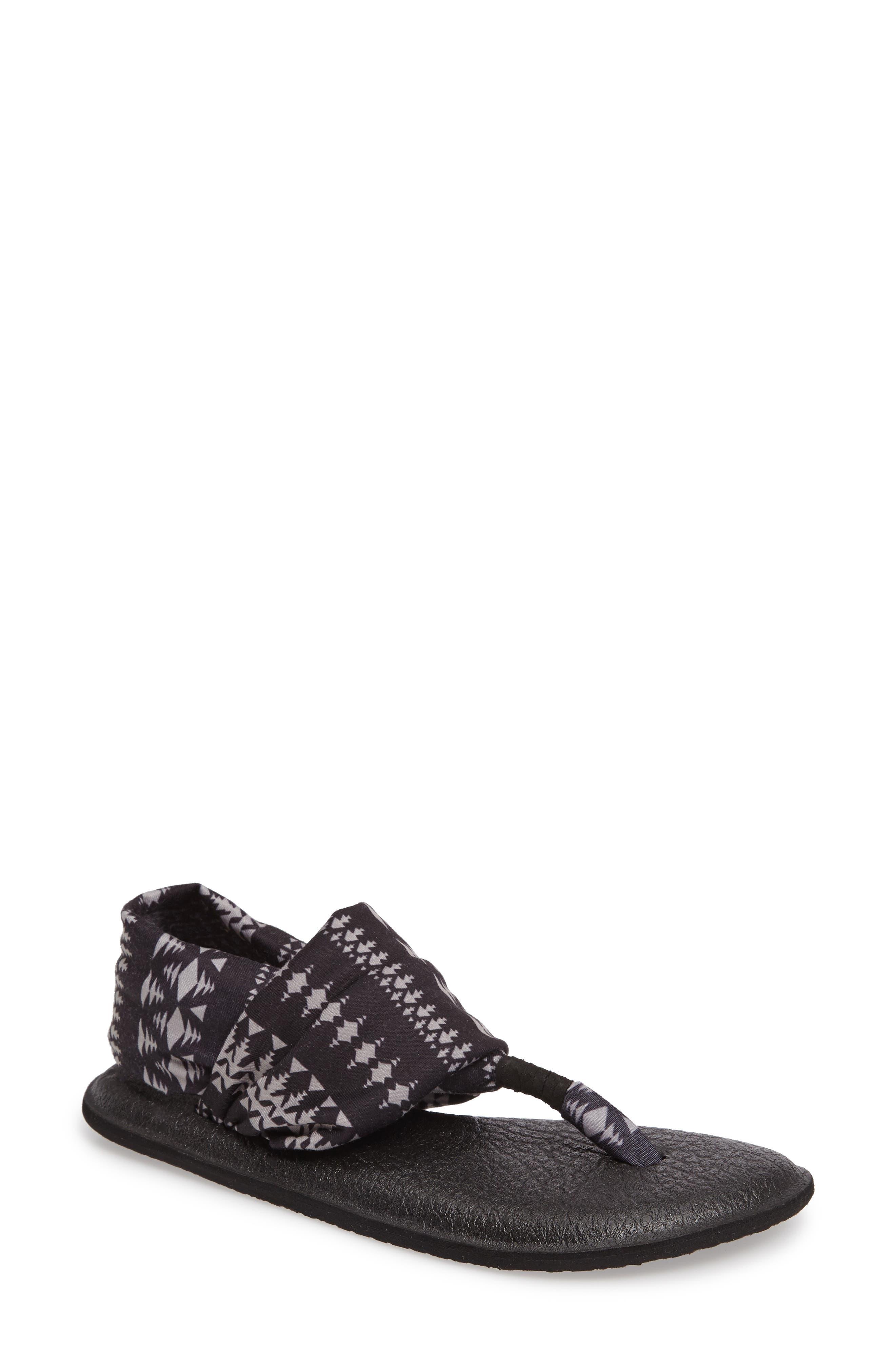 'Yoga Sling 2' Sandal,                             Main thumbnail 1, color,                             BLACK TRIBAL