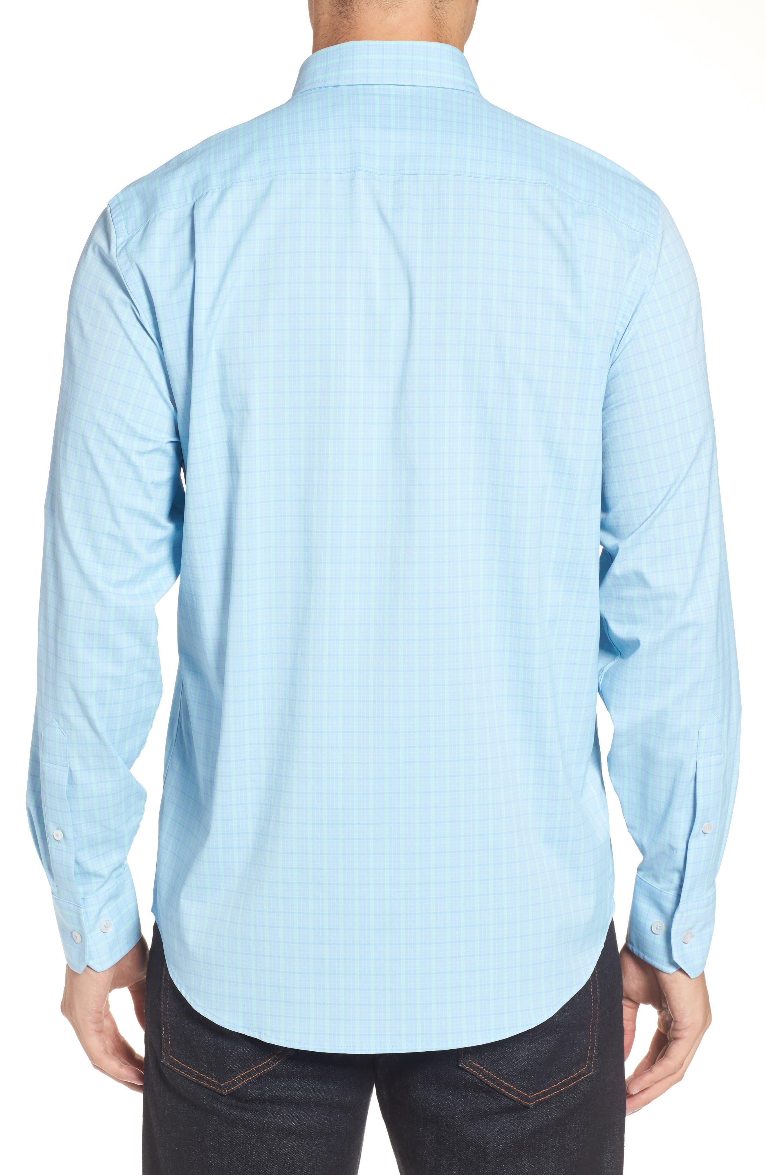 Intercoastal Gordia Plaid Sport Shirt,                             Alternate thumbnail 4, color,