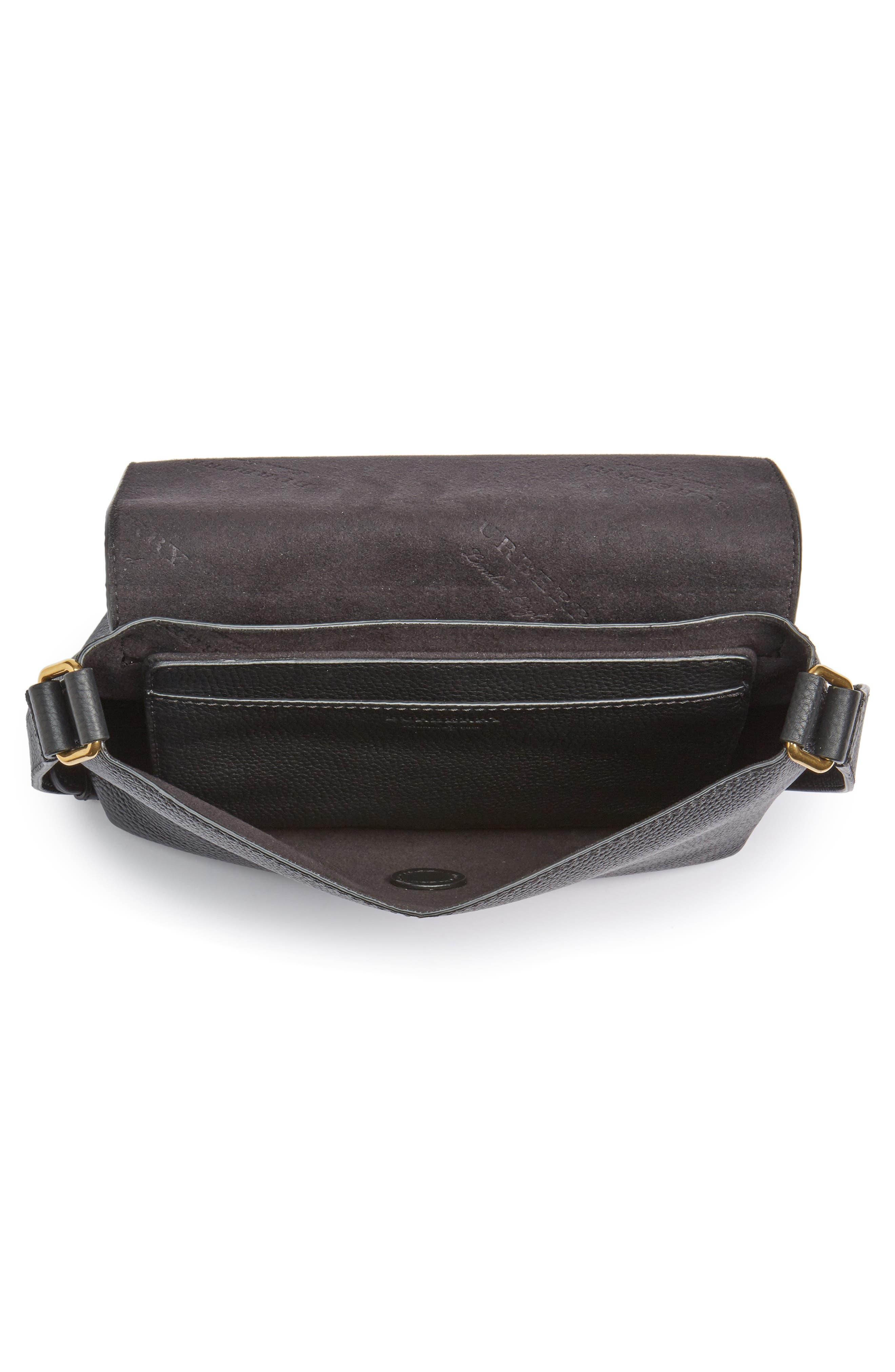 Small Burleigh Leather Crossbody Bag,                             Alternate thumbnail 4, color,                             001