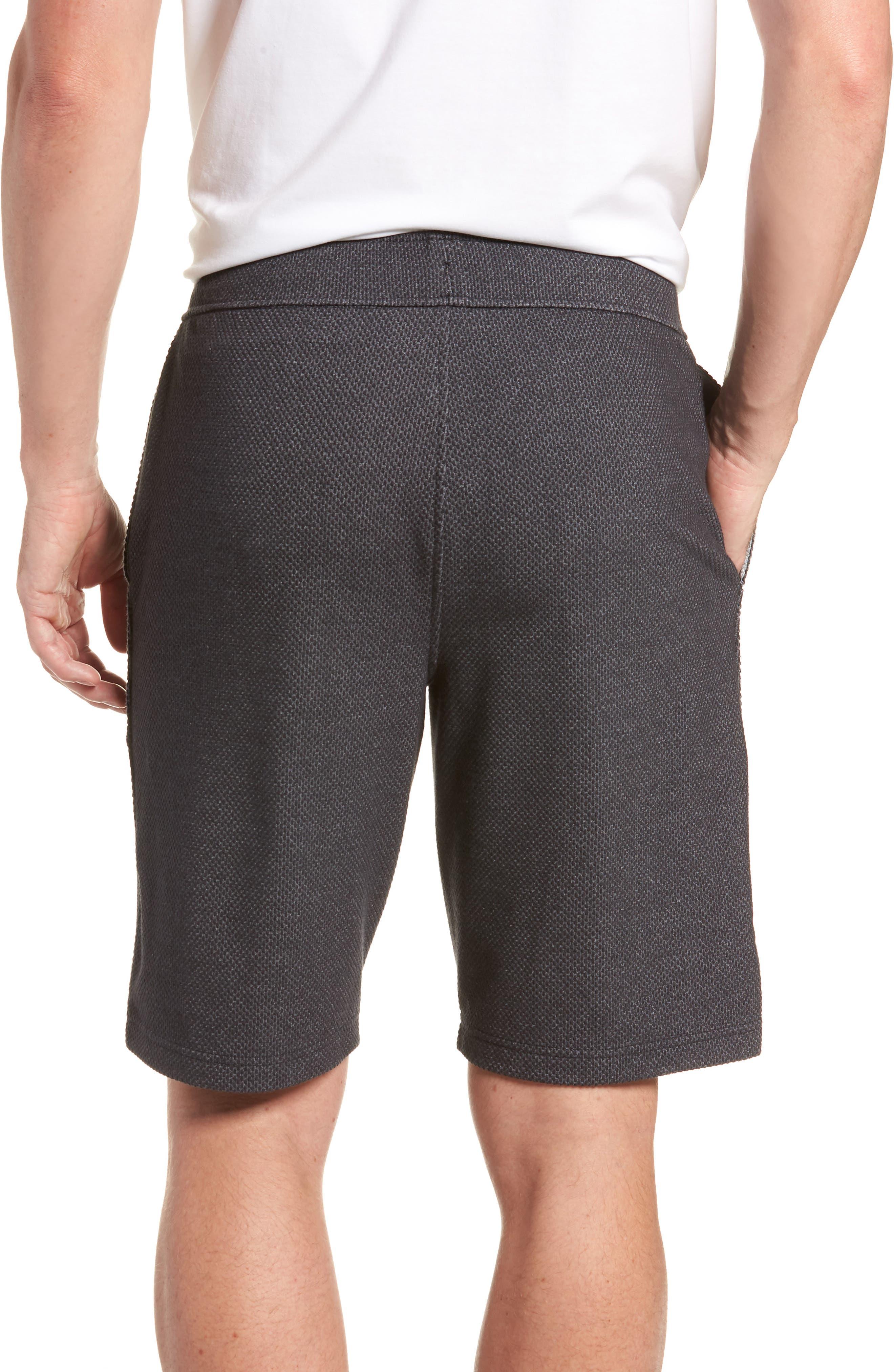 Pursuit Fleece Trim Fit Shorts,                             Alternate thumbnail 2, color,                             BLACK/ BLACK/ STEALTH GRAY