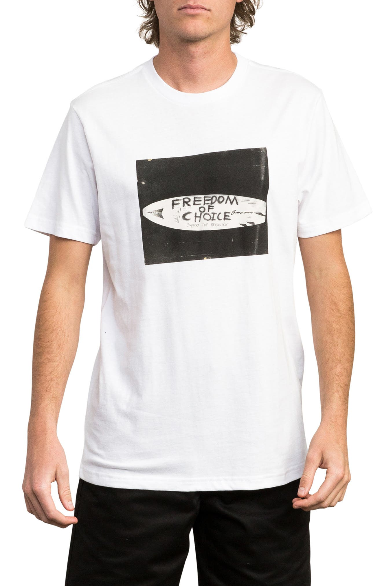 Freedom of Choice Graphic T-Shirt,                             Main thumbnail 1, color,                             100