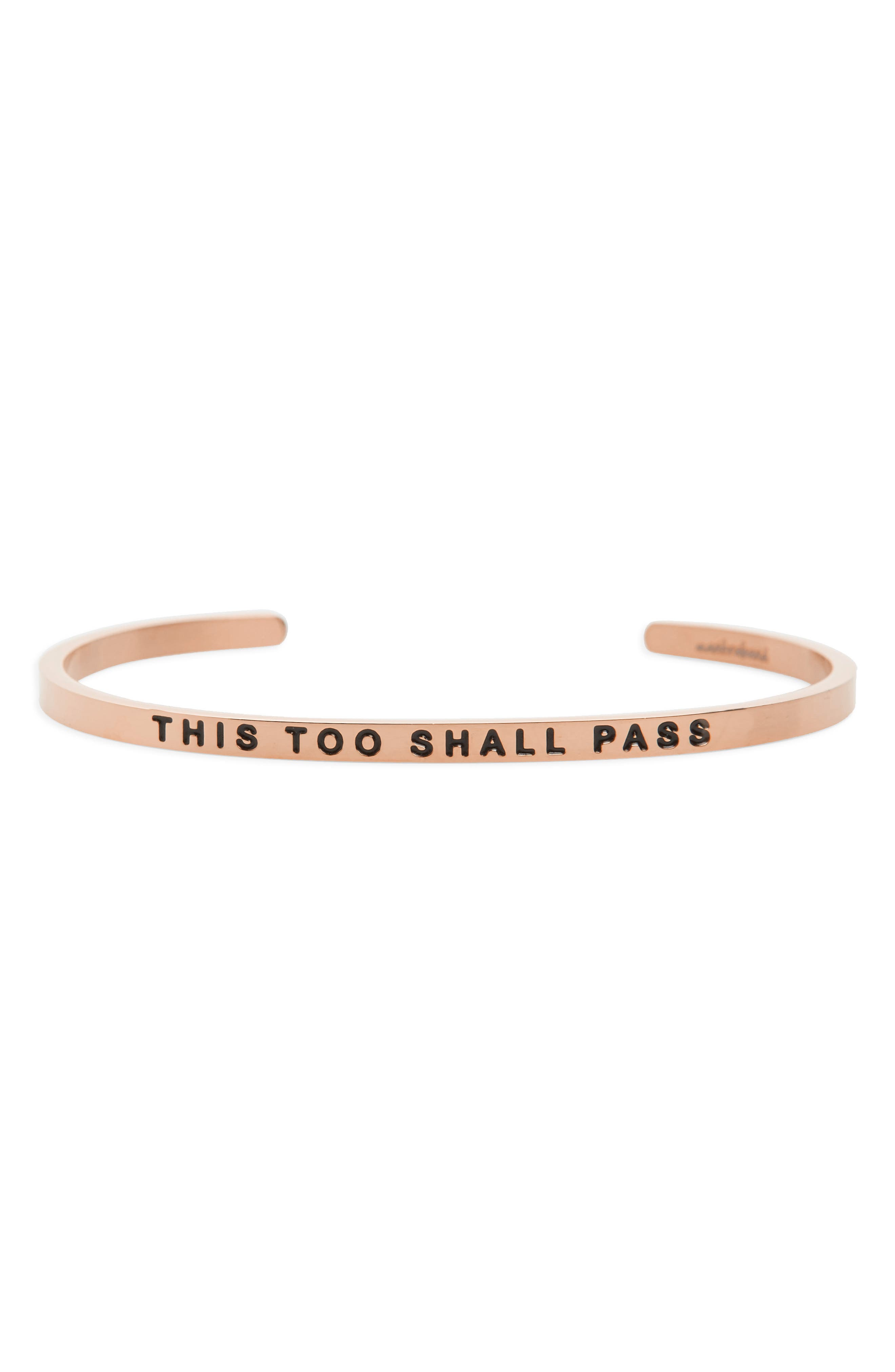 This Too Shall Pass Wrist Cuff,                             Main thumbnail 2, color,