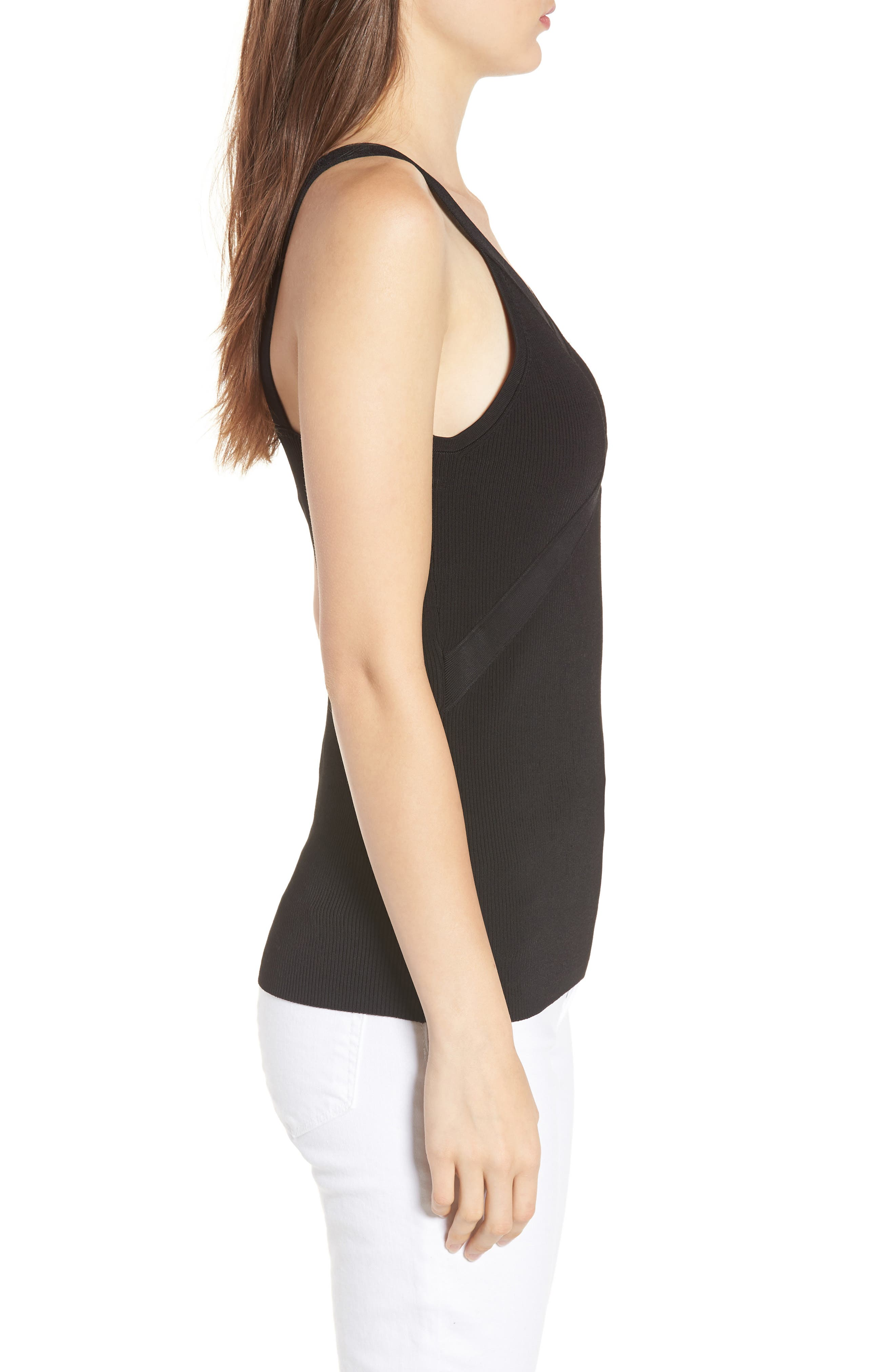 Rib Knit Tank,                             Alternate thumbnail 3, color,