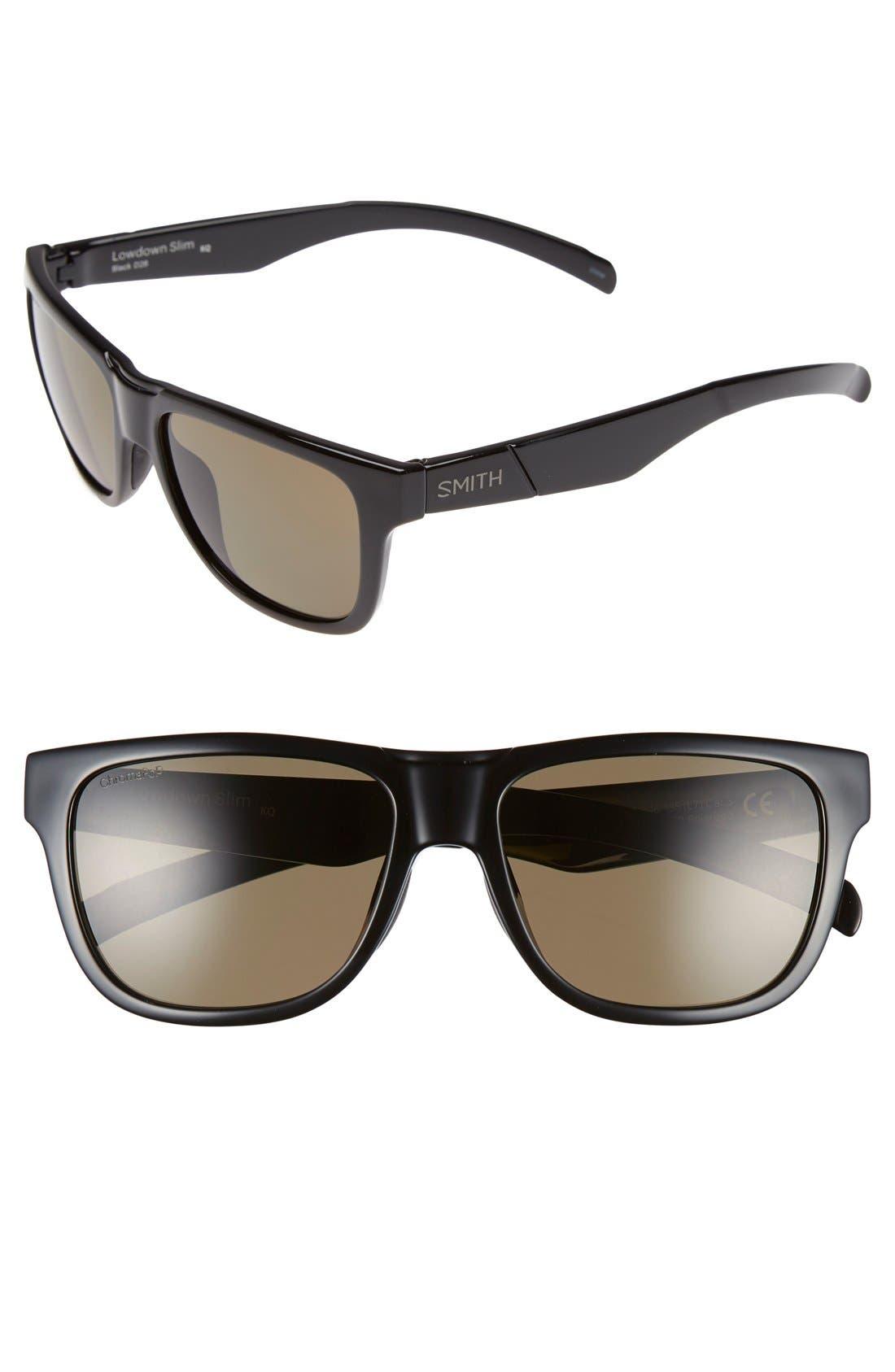 'Lowdown Slim' 53mm Sunglasses,                             Main thumbnail 1, color,                             001