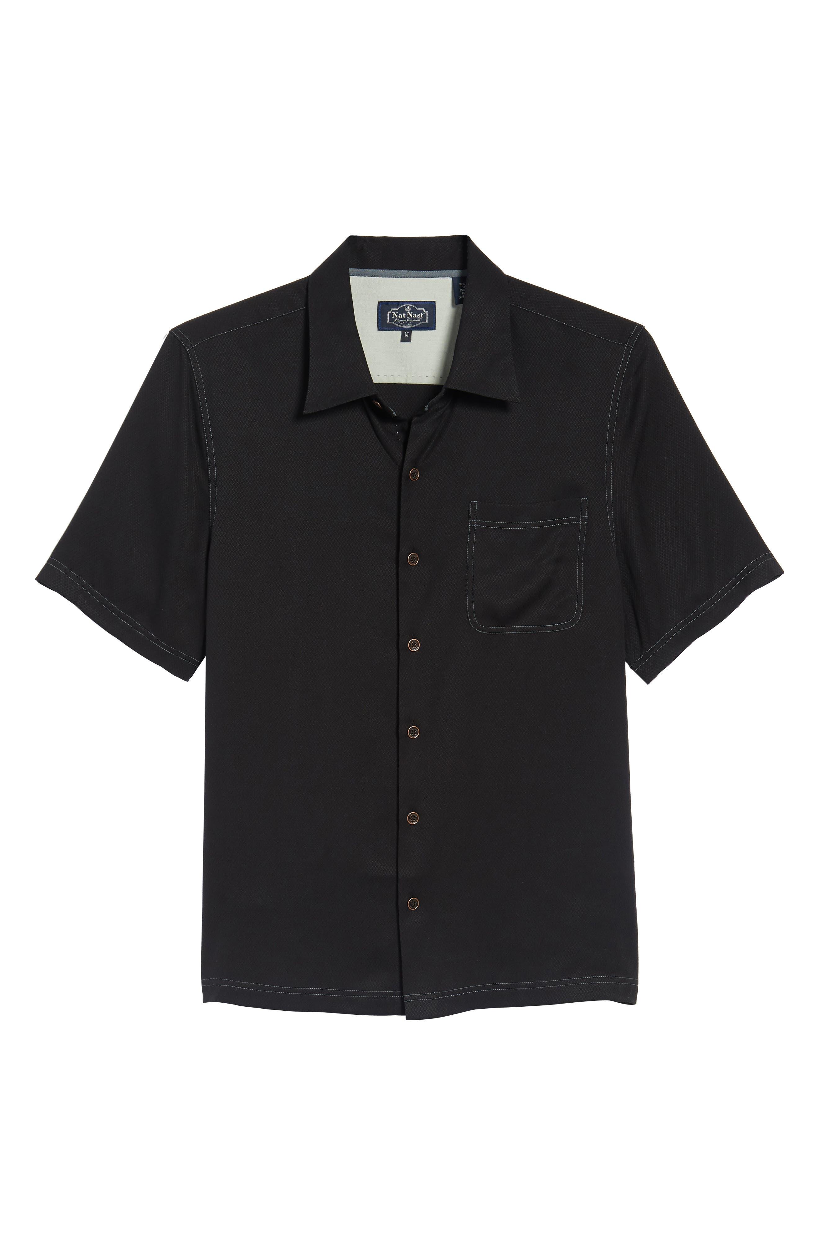 'Honeycomb' Regular Fit Short Sleeve Textured Sport Shirt,                             Alternate thumbnail 13, color,