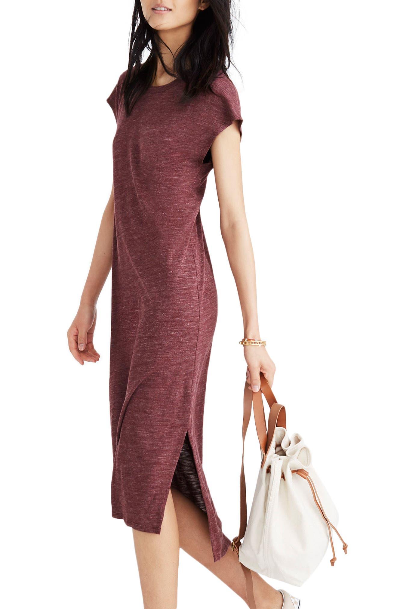 Muscle Midi Dress,                             Alternate thumbnail 4, color,
