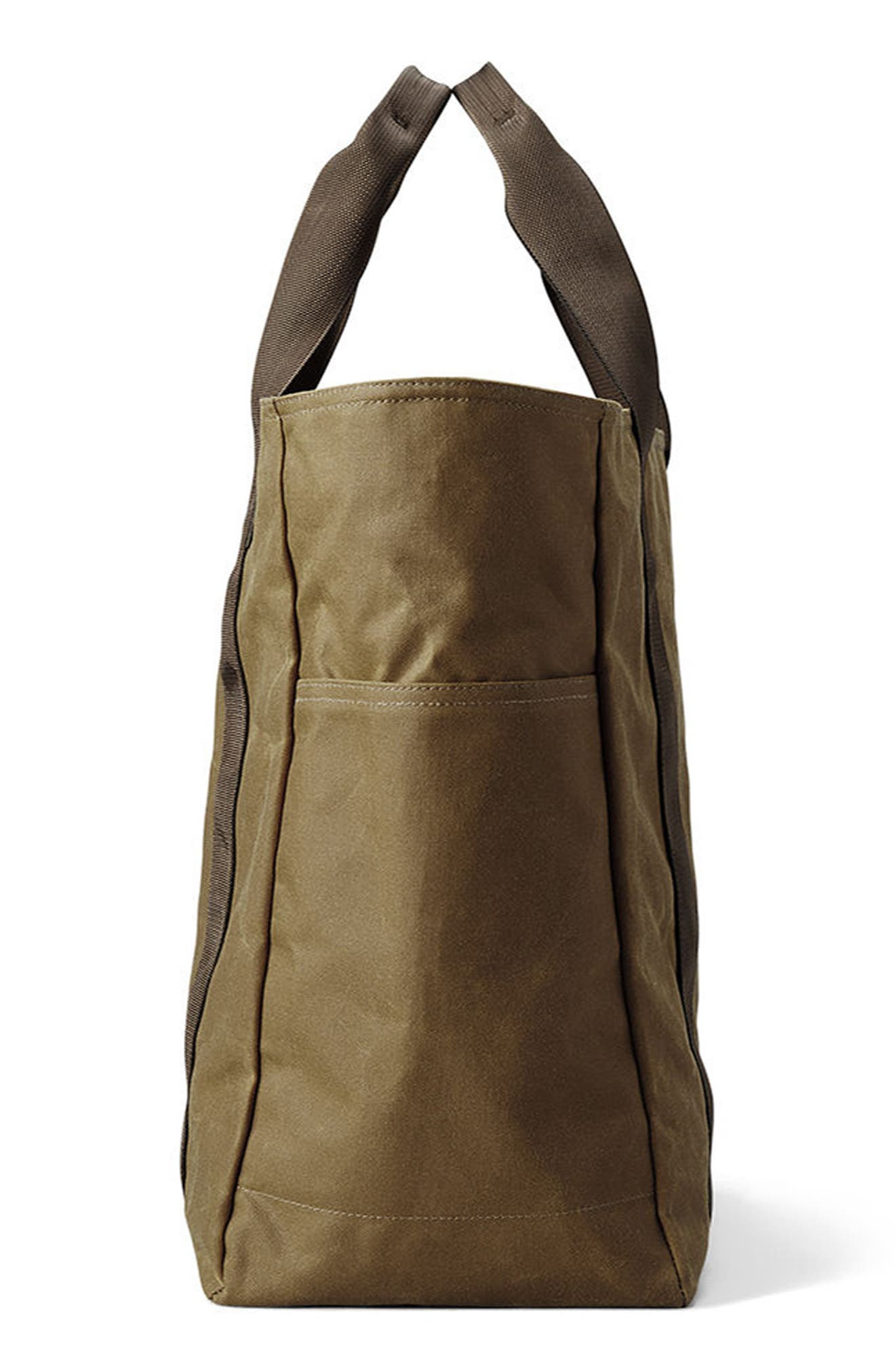 Large Grab 'n' Go Tote Bag,                             Alternate thumbnail 3, color,                             DARK TAN/ BROWN