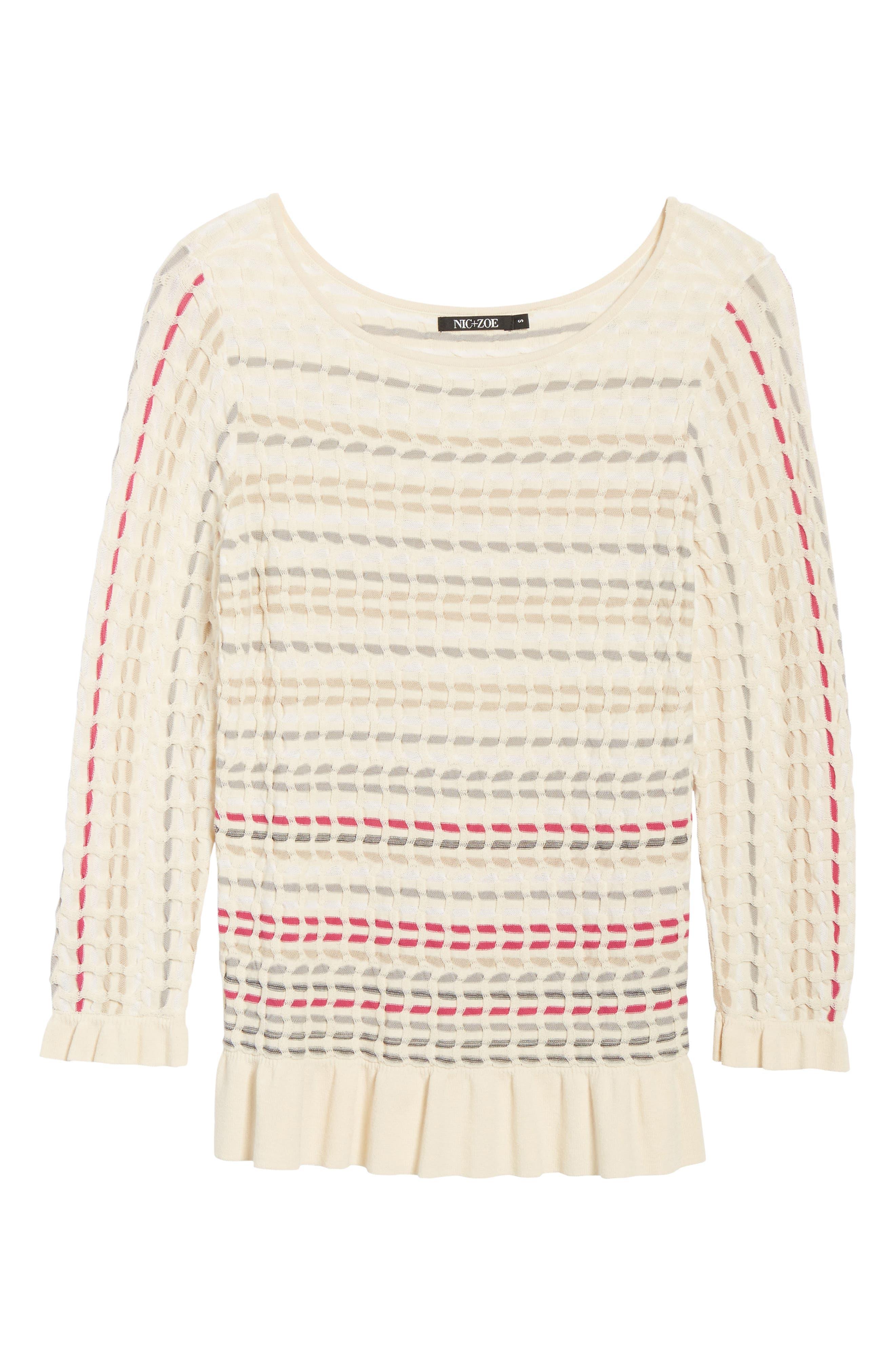 Saffron Stitch Sweater,                             Alternate thumbnail 6, color,