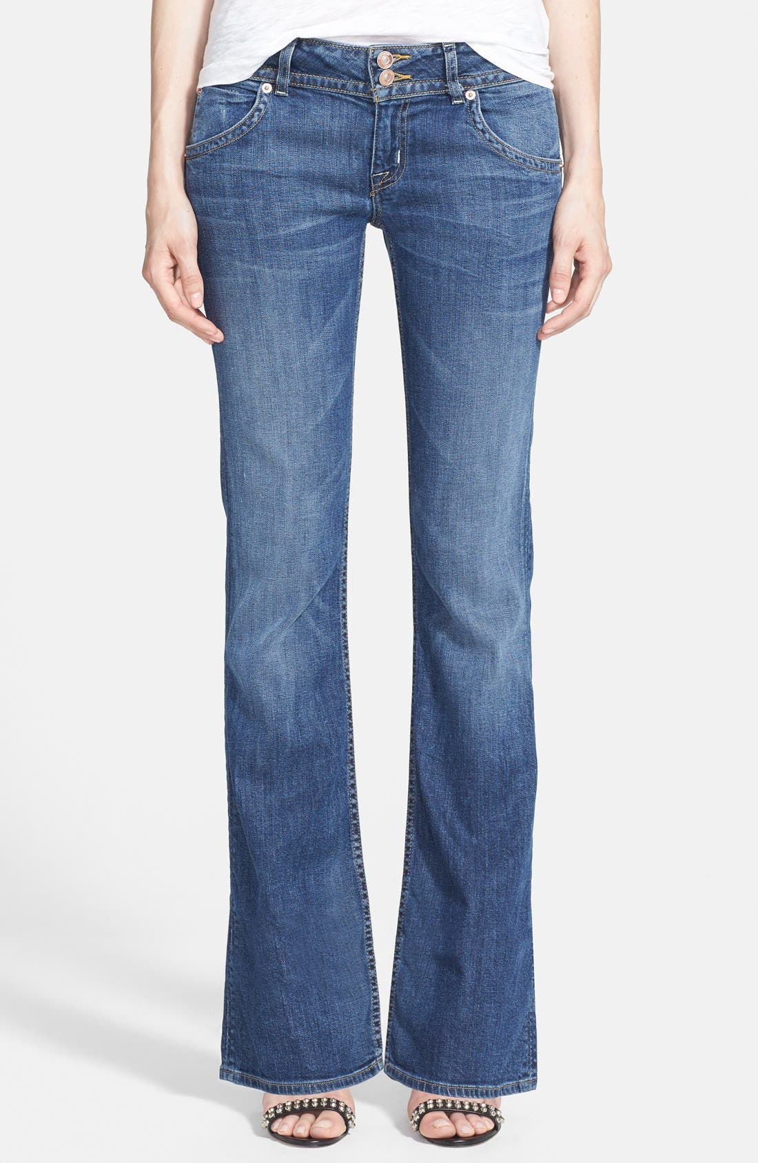 'Signature' Bootcut Jeans,                             Main thumbnail 1, color,                             HACKNEY