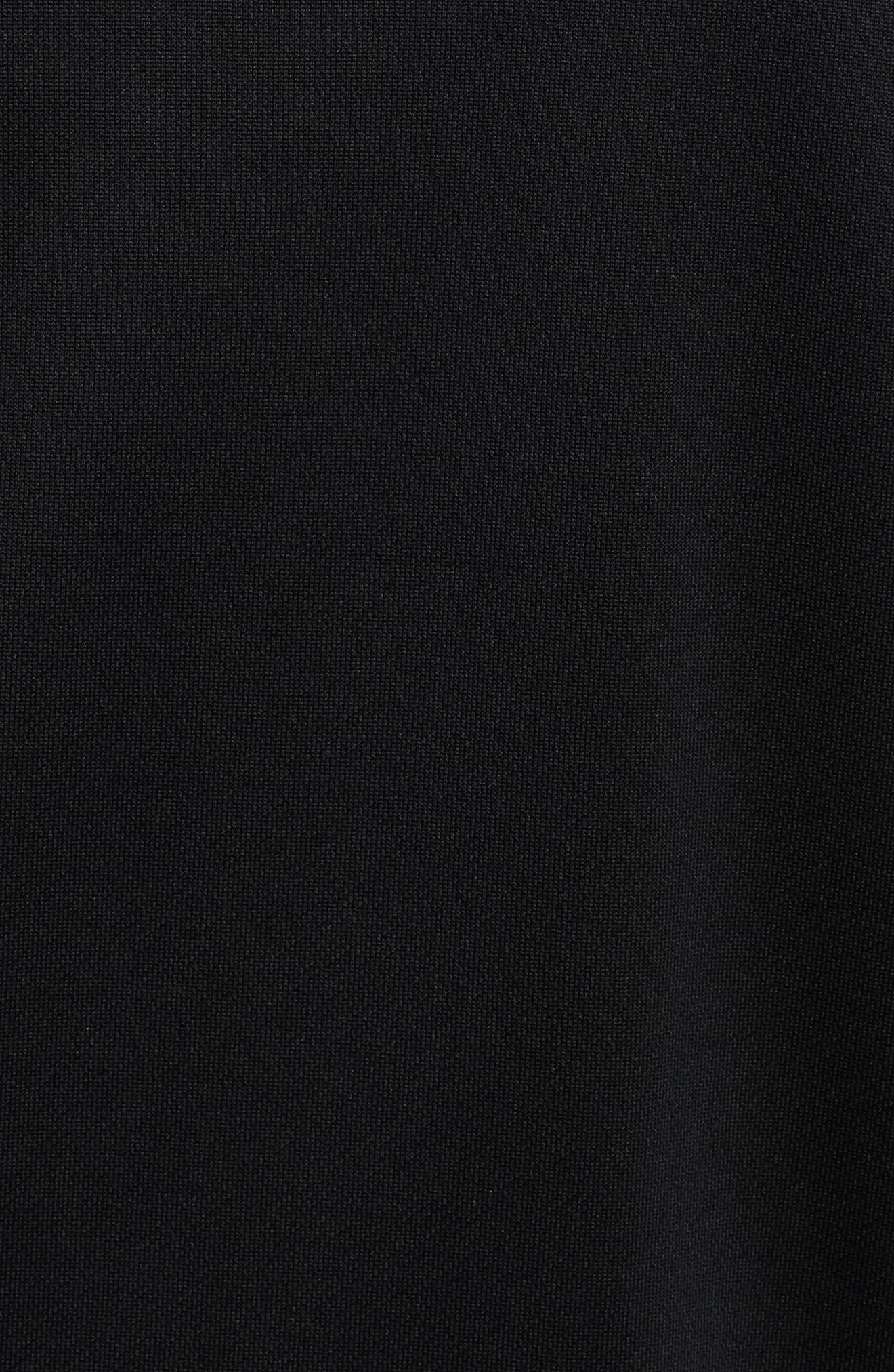 Retro Zip Hoodie Jacket,                             Alternate thumbnail 5, color,                             PUMA BLACK