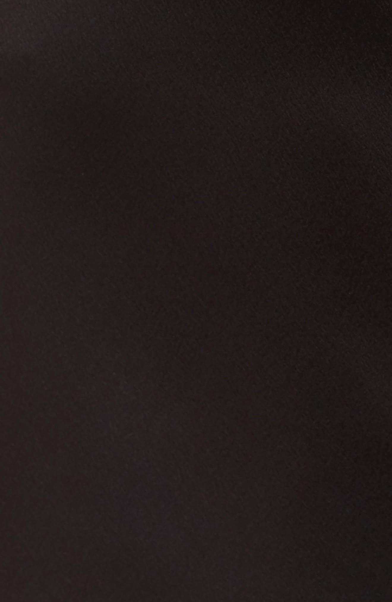 Showstopper Robe,                             Alternate thumbnail 6, color,                             BLACK
