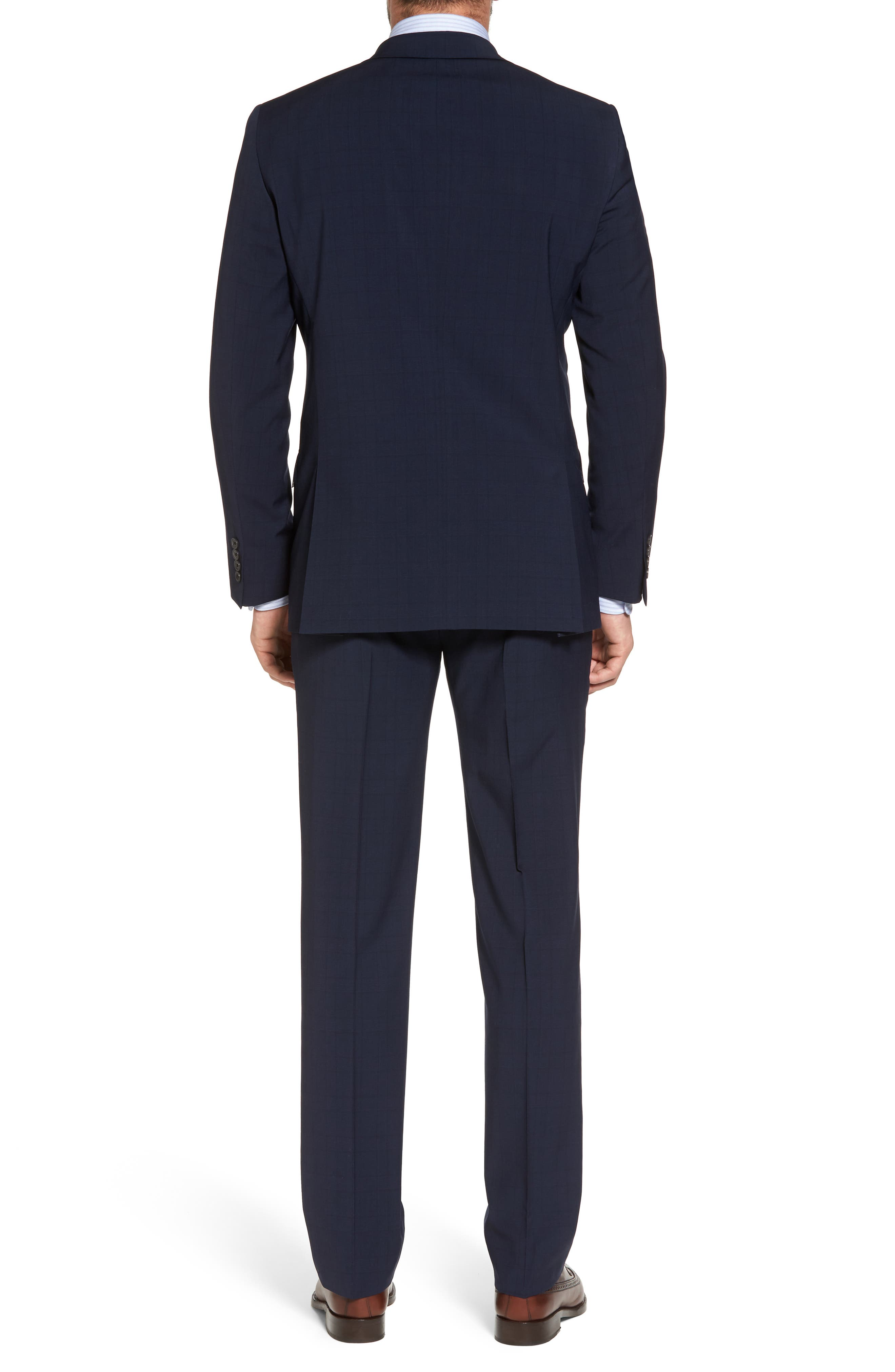 New York Classic Fit Plaid Wool Suit,                             Alternate thumbnail 2, color,                             400
