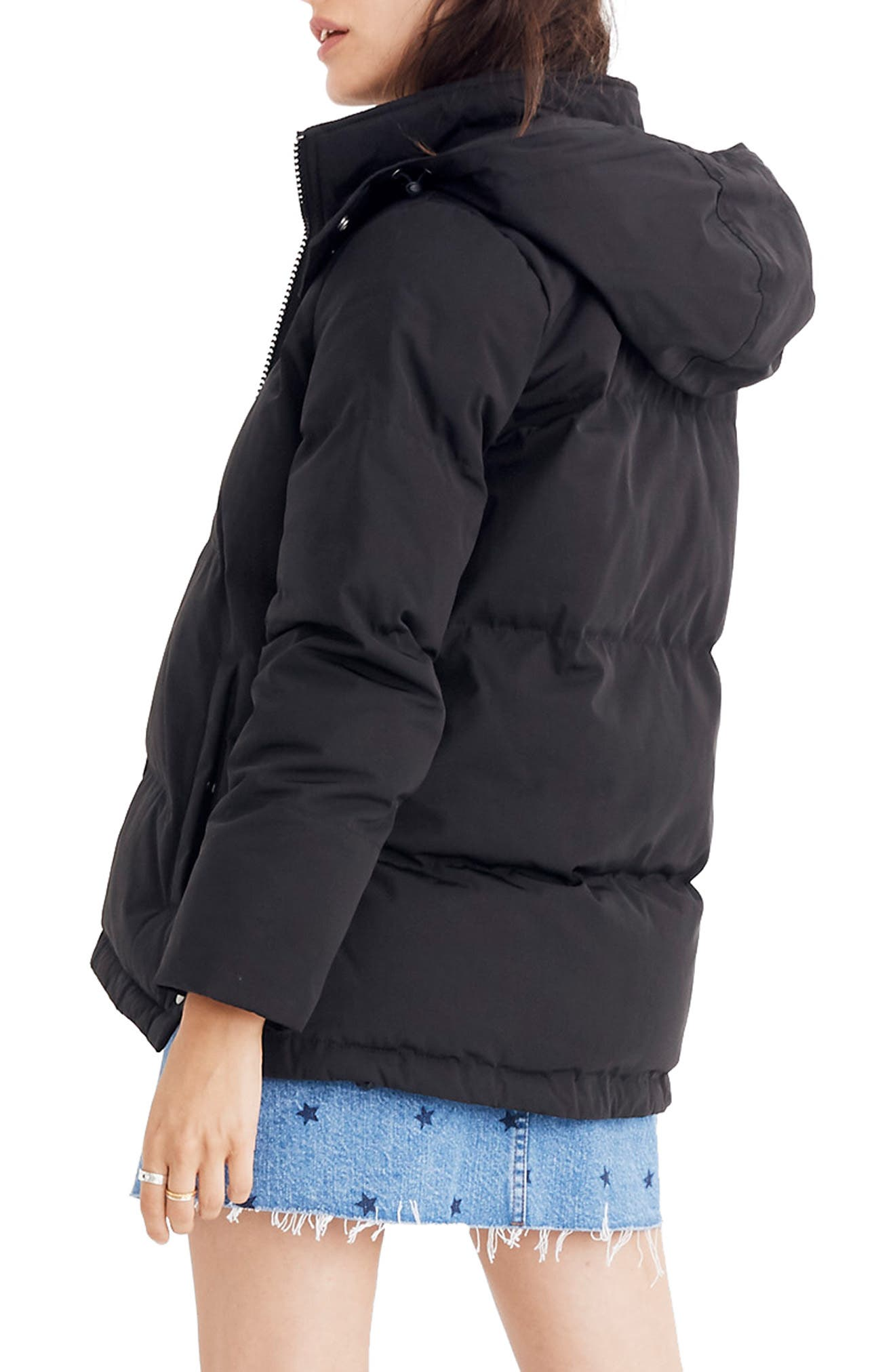 Quilted Puffer Parka,                             Alternate thumbnail 2, color,                             TRUE BLACK