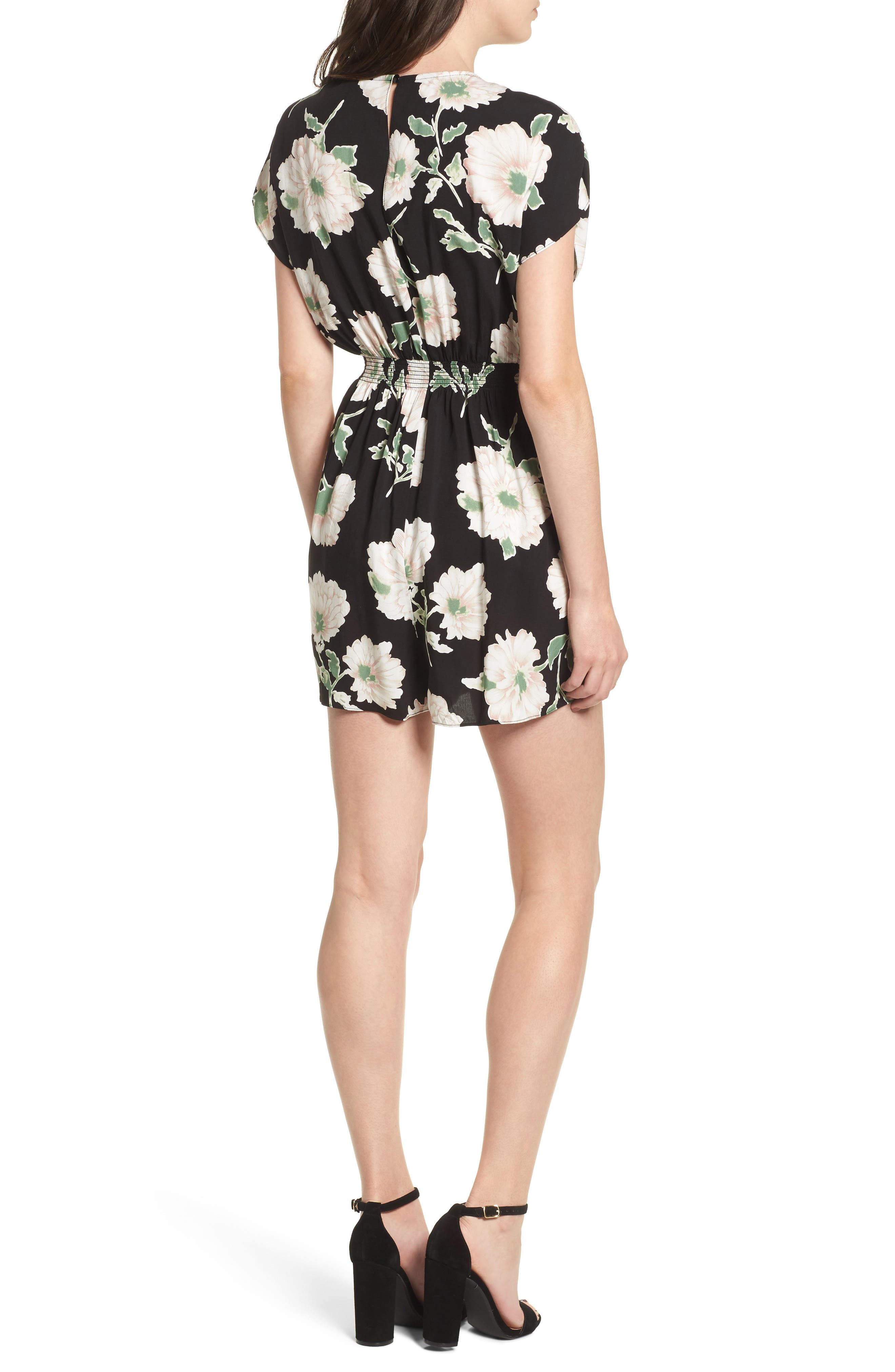 Knotted Romper,                             Alternate thumbnail 3, color,