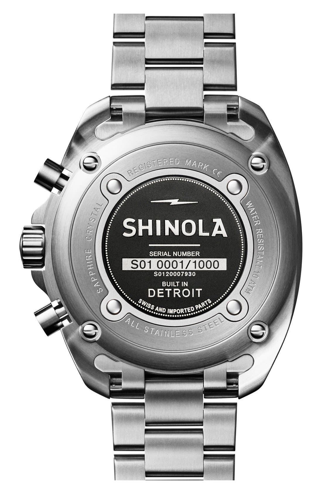 'Rambler' Chronograph Bracelet Watch, 44mm,                             Alternate thumbnail 2, color,                             SILVER/ BLACK