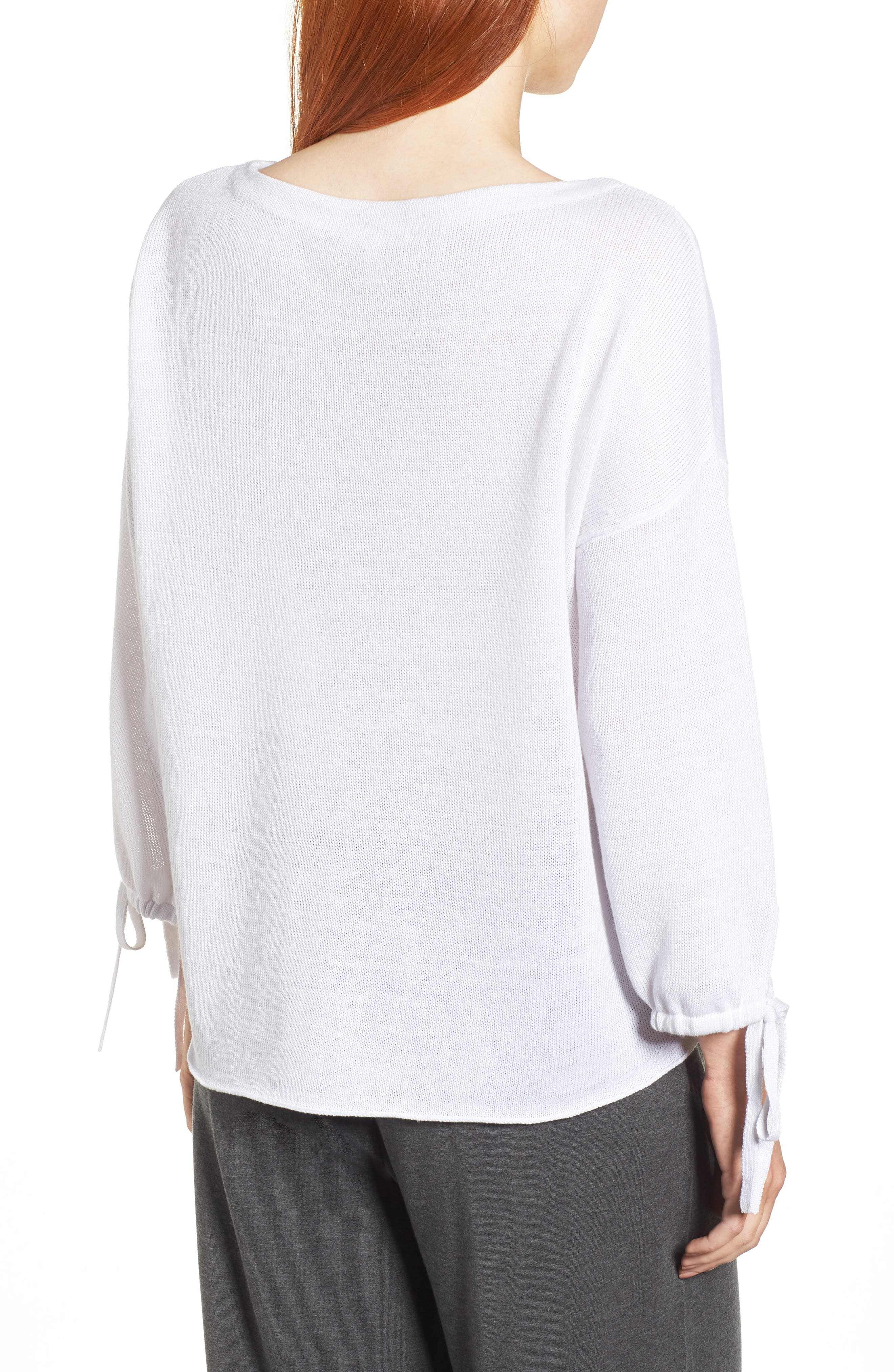 Organic Linen Sweater,                             Alternate thumbnail 6, color,