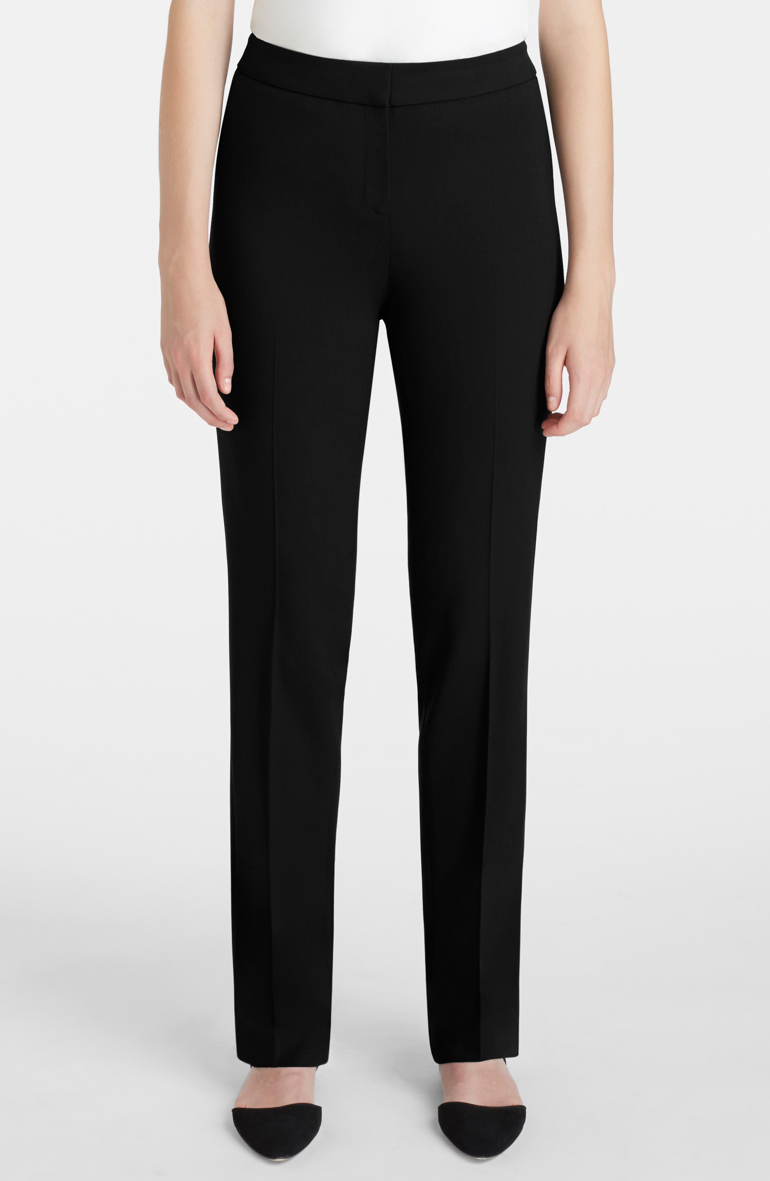 Barrow Stretch Wool Pants,                             Main thumbnail 1, color,                             BLACK