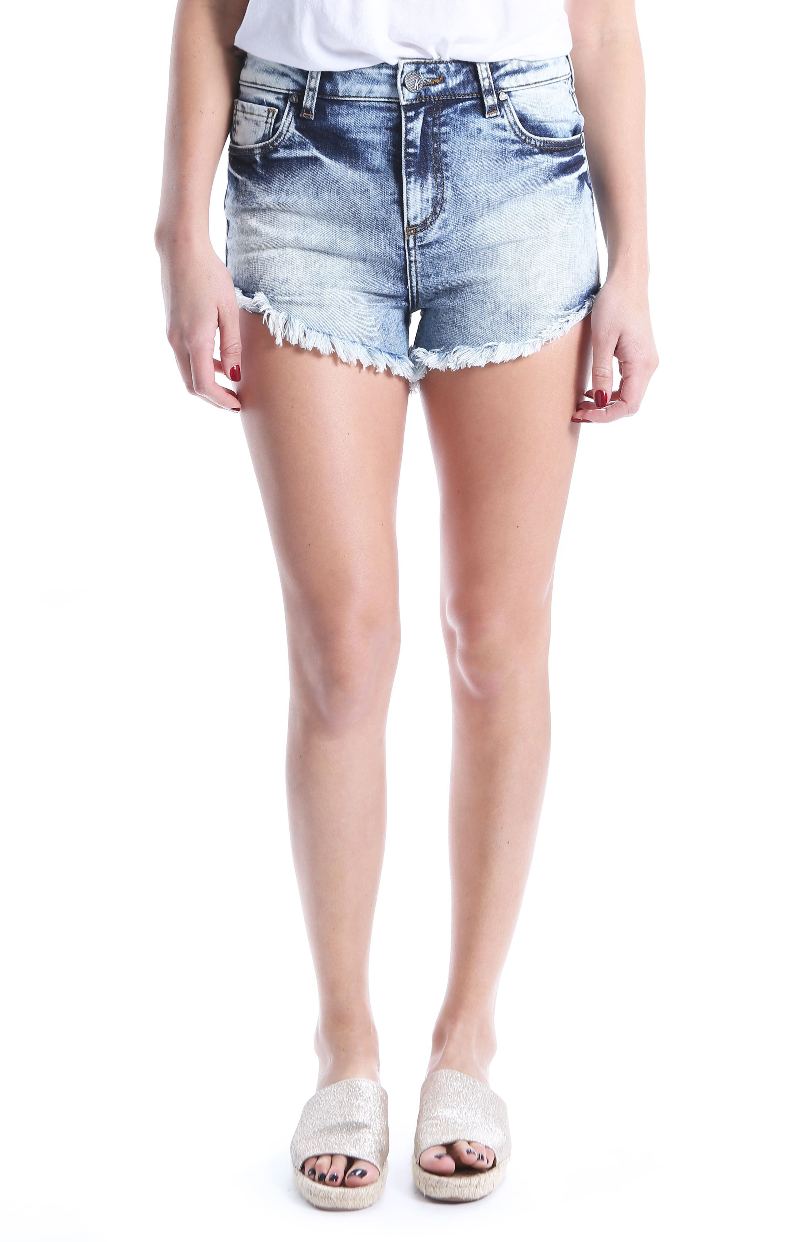 KUT Kollection Gidget Cutoff Denim Shorts,                         Main,                         color, 400