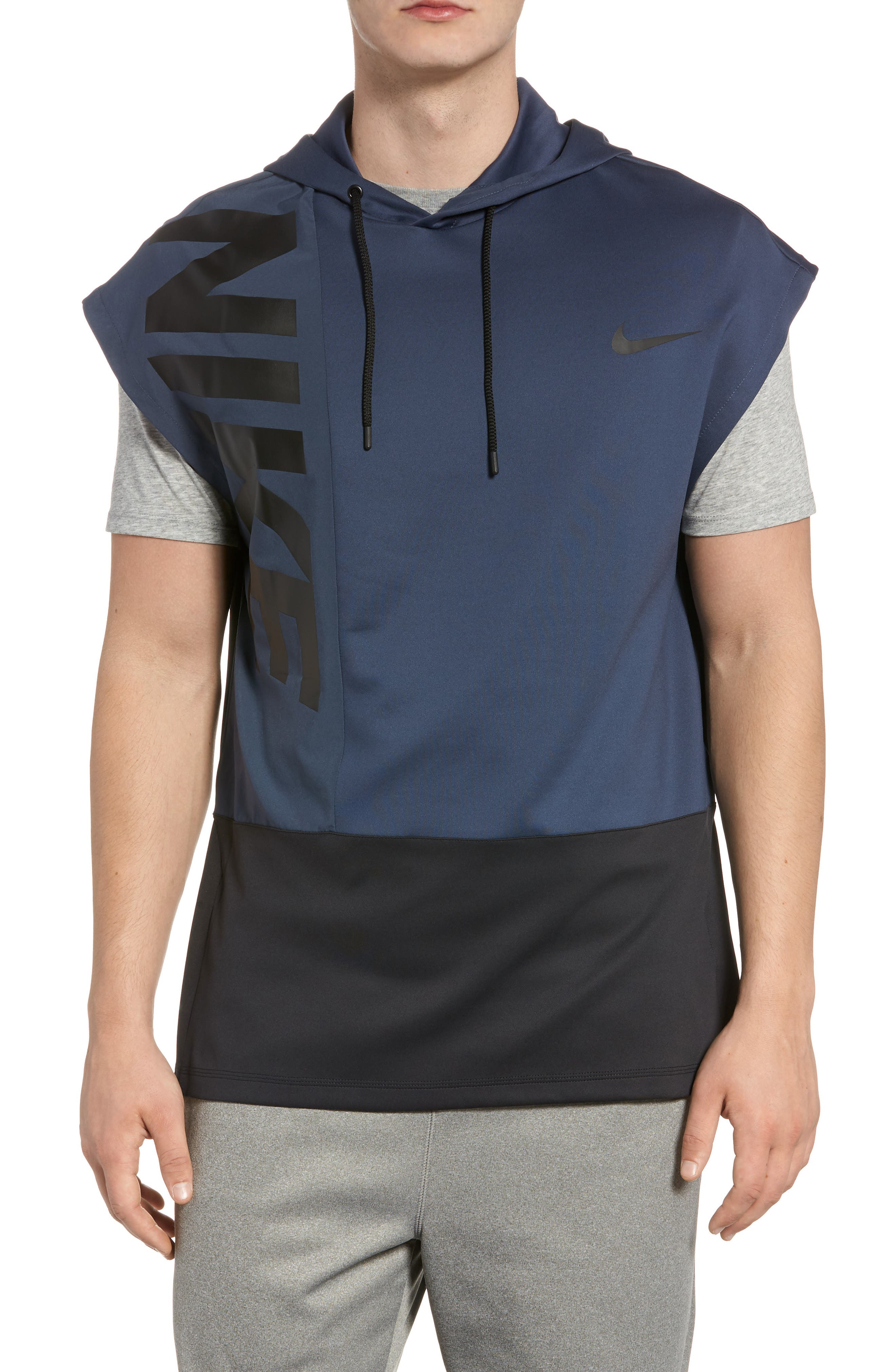 Dry Hooded Tank,                         Main,                         color, THUNDER BLUE/ BLACK/ BLACK