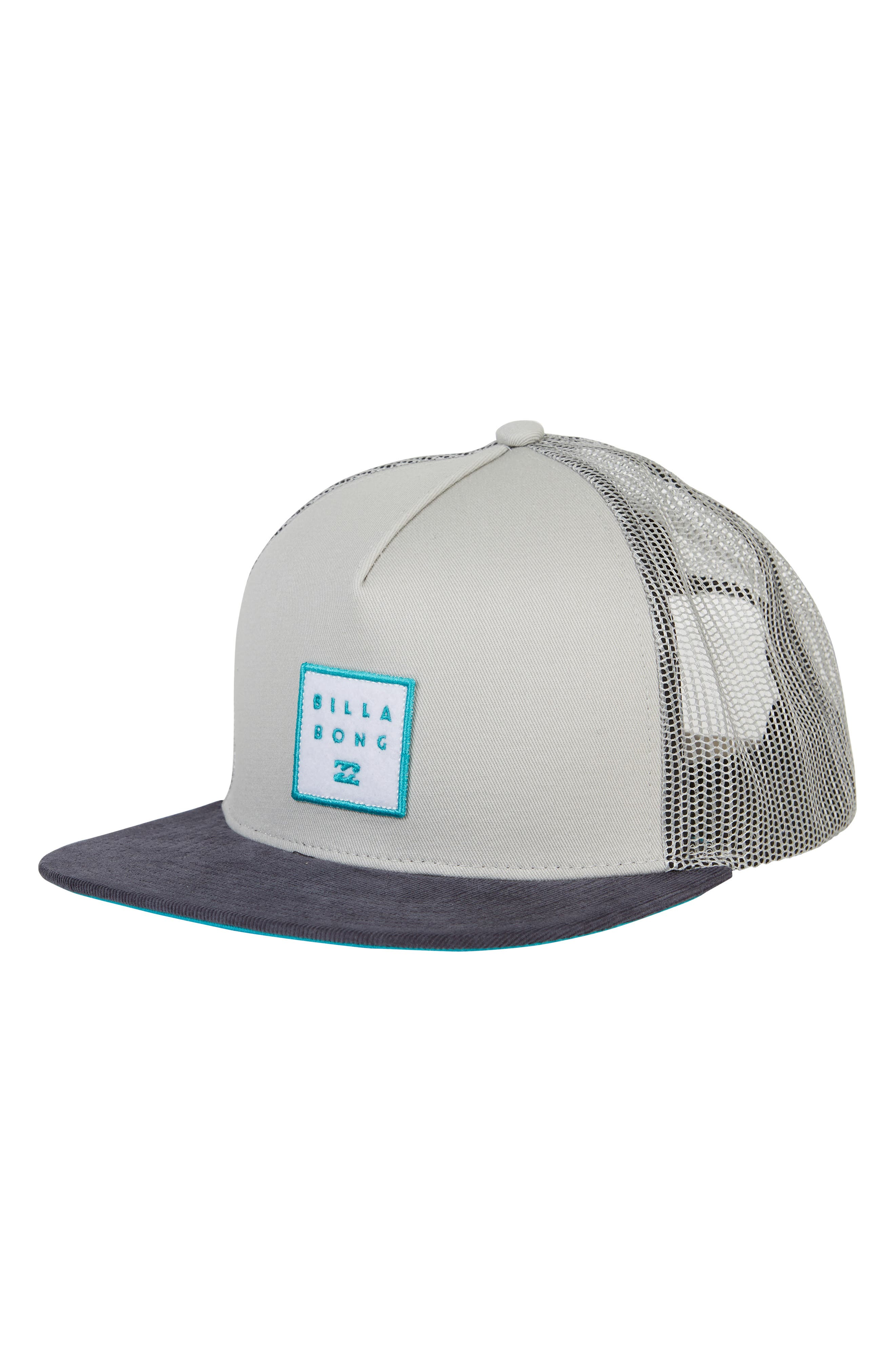 Stacked Trucker Hat,                         Main,                         color, LIGHT GREY
