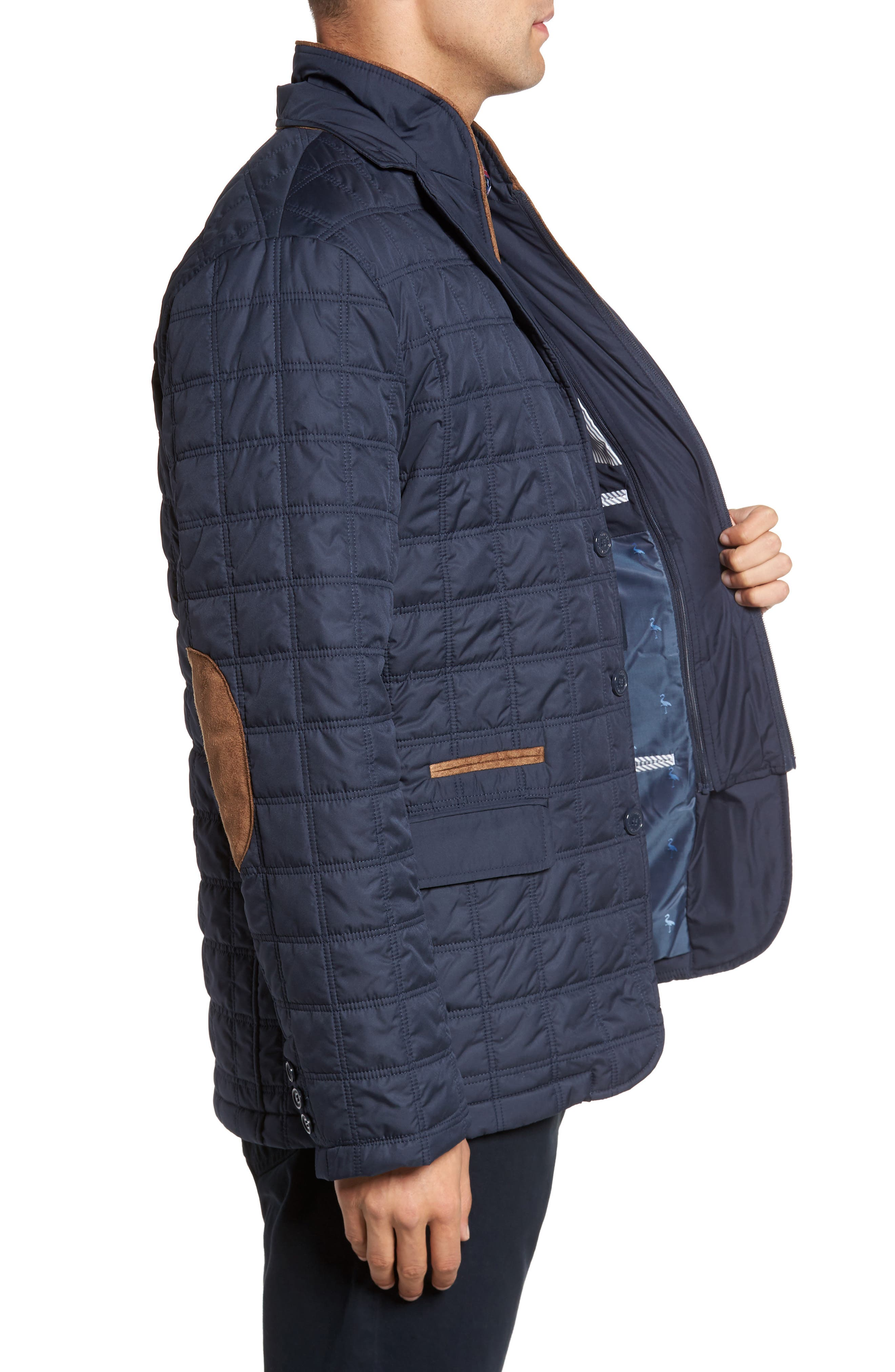 Hodge Quilted Jacket,                             Alternate thumbnail 3, color,                             410
