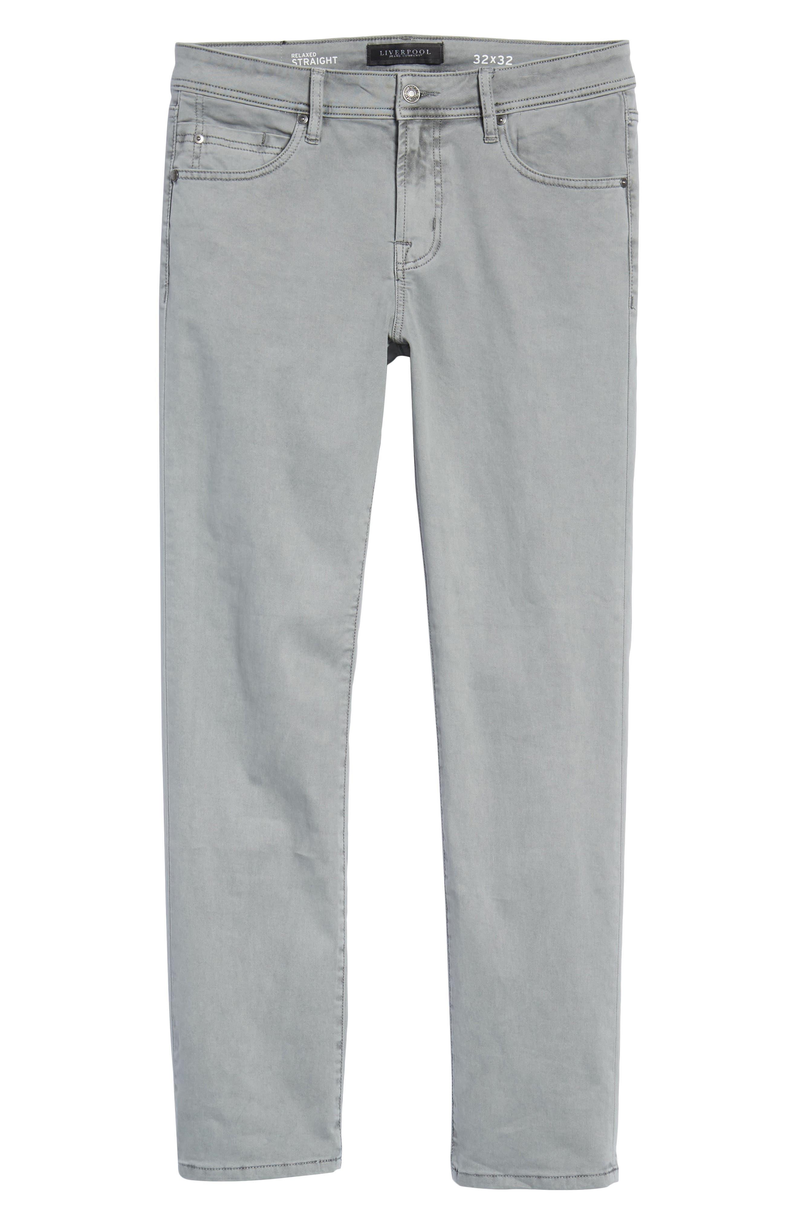 Jeans Co. Straight Leg Jeans,                             Alternate thumbnail 6, color,                             SHARKSKIN