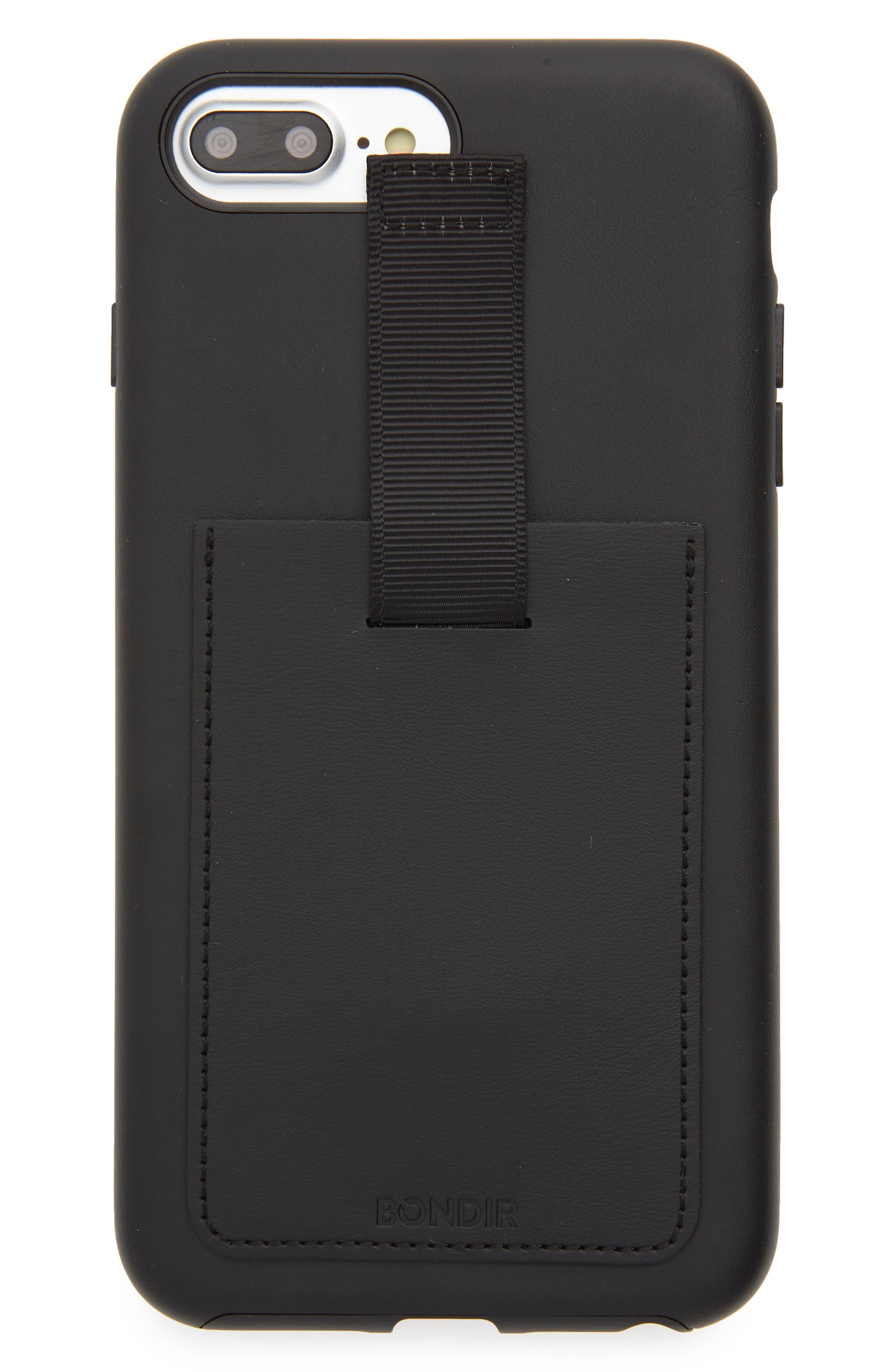 Leather iPhone 6/6s/7/8 Plus Case,                             Main thumbnail 1, color,                             001