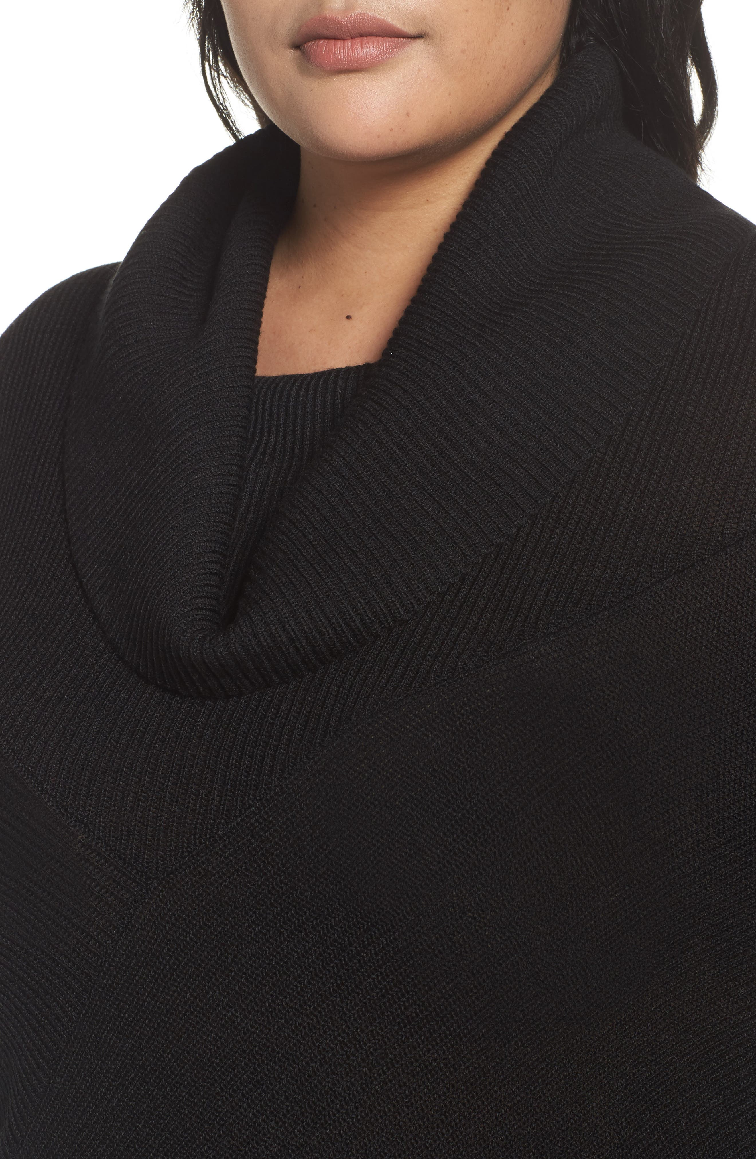 Cowl Neck Ribbed Trim Pullover,                             Alternate thumbnail 19, color,