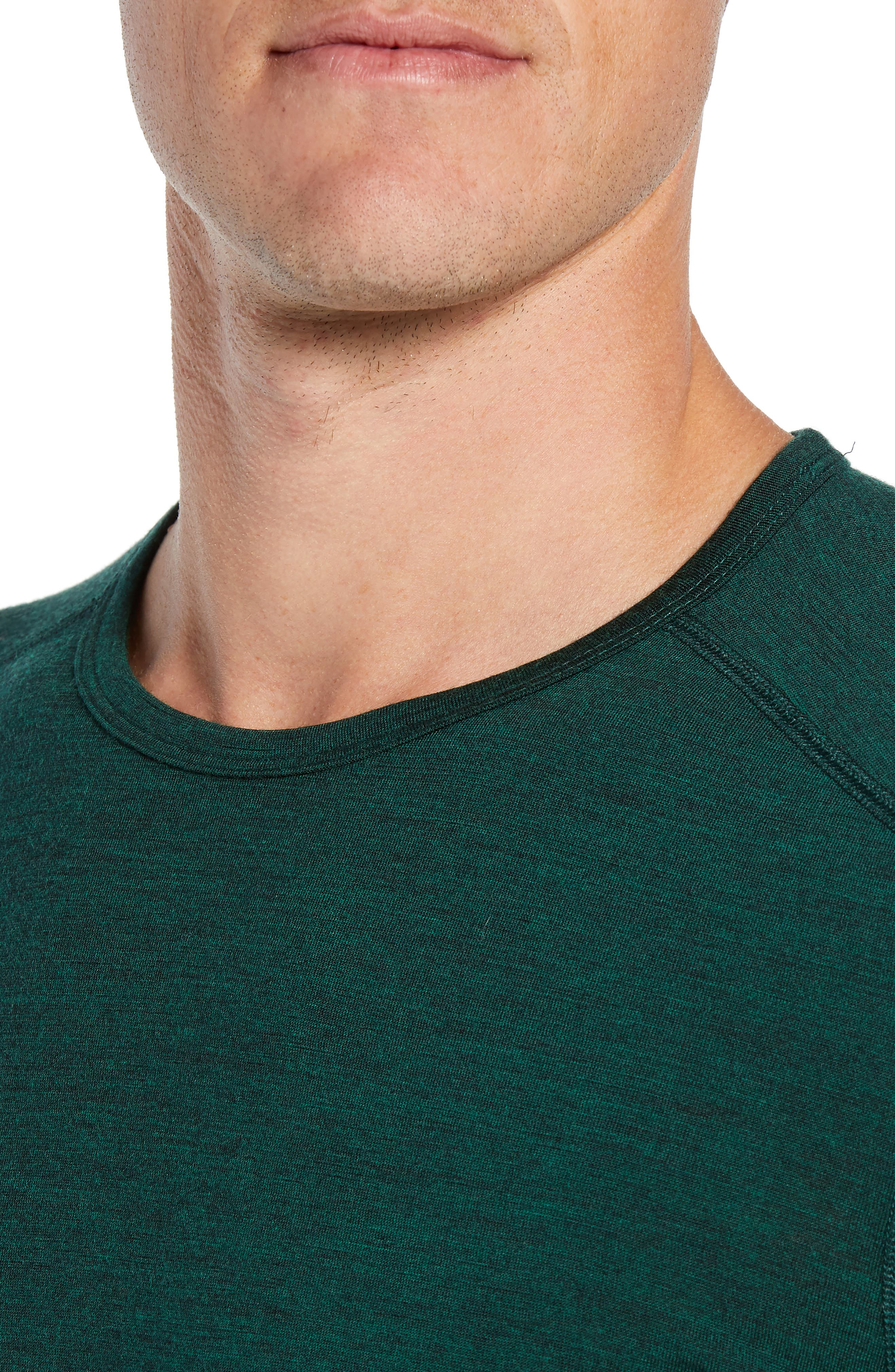 Oasis Slim Merino Wool T-Shirt,                             Alternate thumbnail 4, color,                             IMPERIAL HEATHER