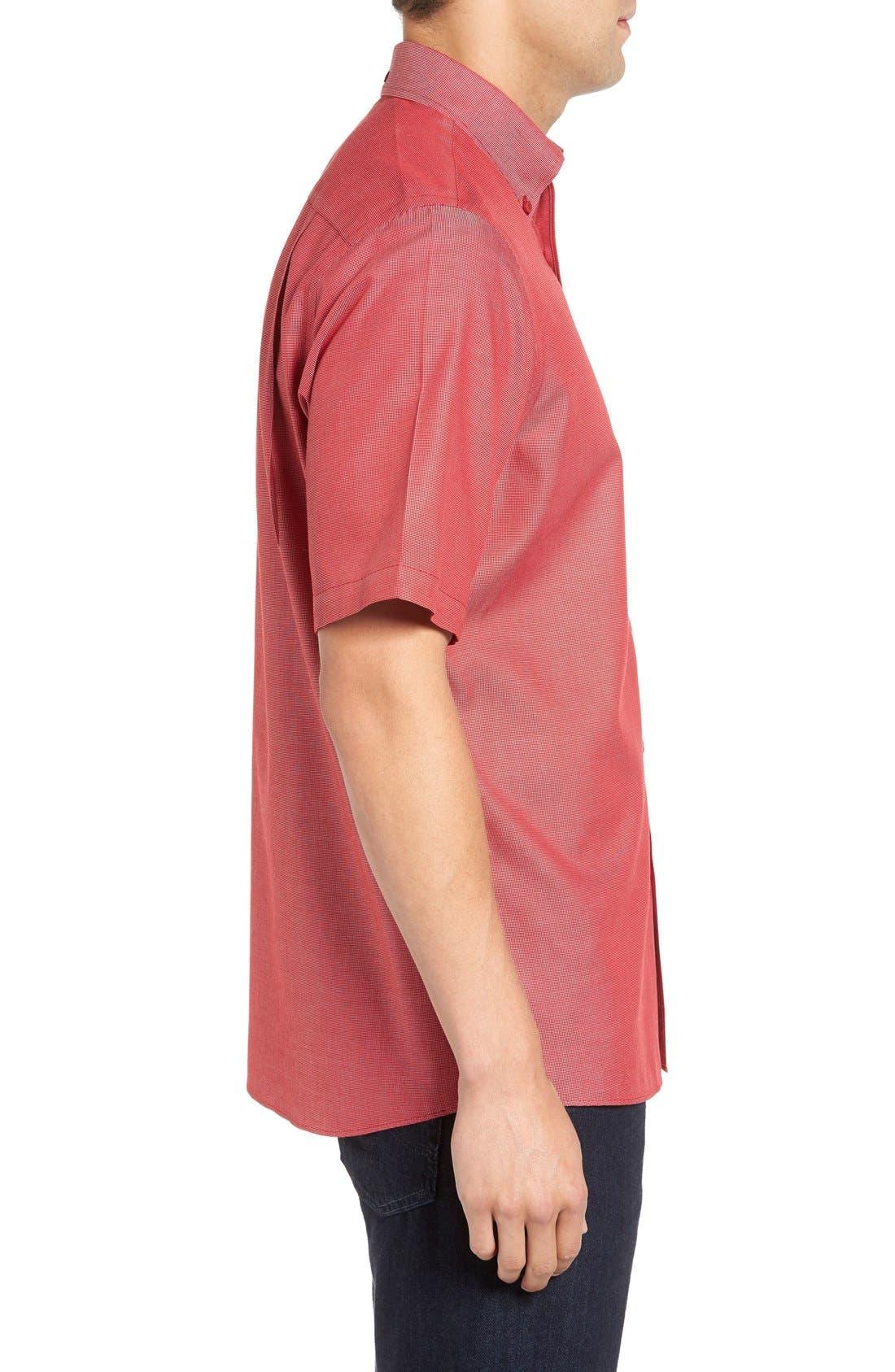 'Classic' Smartcare<sup>™</sup> Regular Fit Short Sleeve Cotton Sport Shirt,                             Alternate thumbnail 61, color,