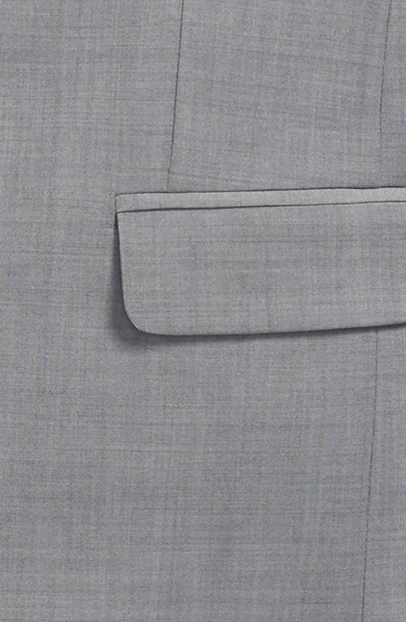 Stretch Wool Suit,                             Alternate thumbnail 2, color,                             LIGHT GREY