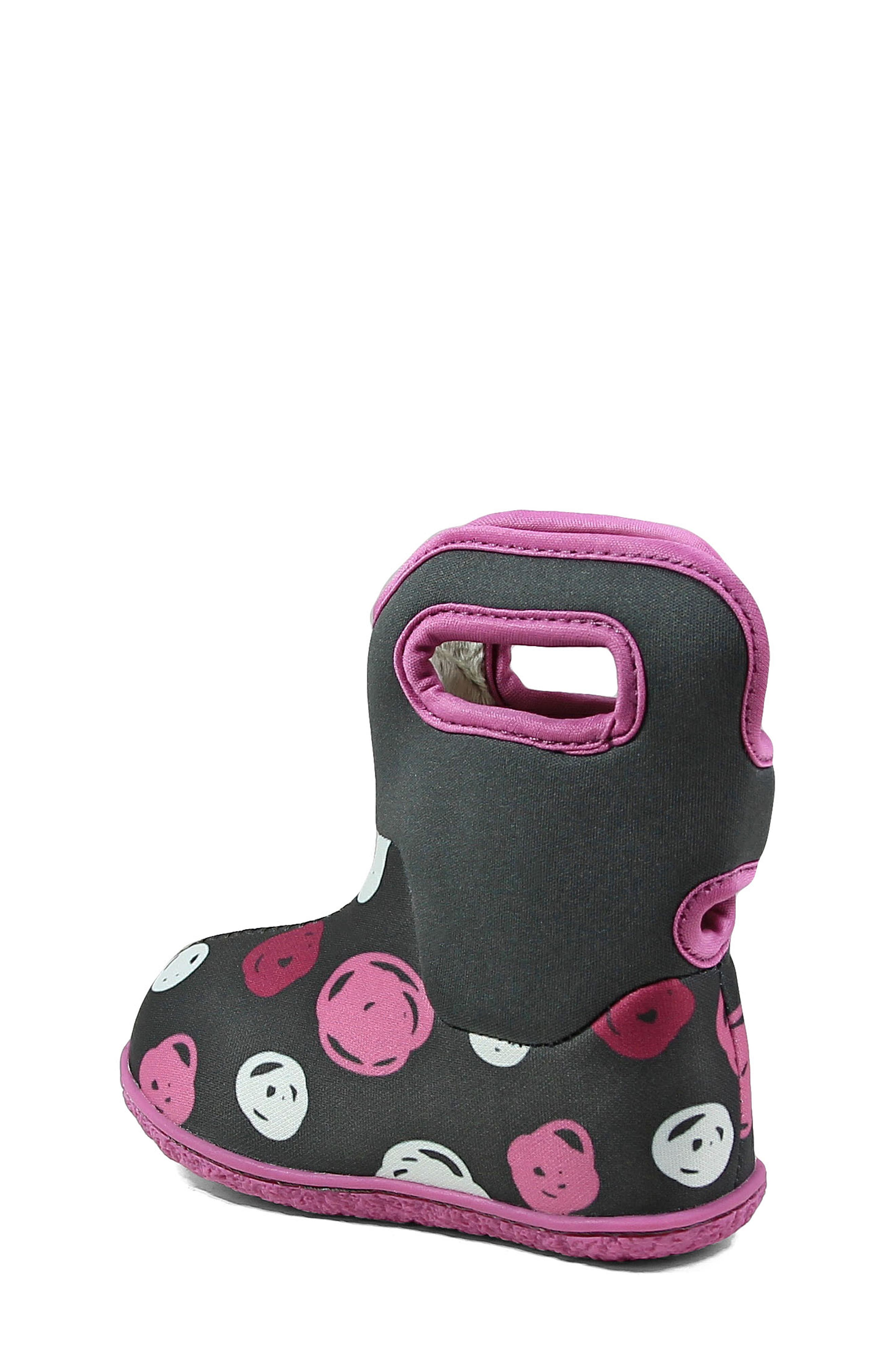 Baby Bogs Classic Sketched Dots Washable Insulated Waterproof Boot,                             Alternate thumbnail 2, color,                             DARK GRAY MULTI