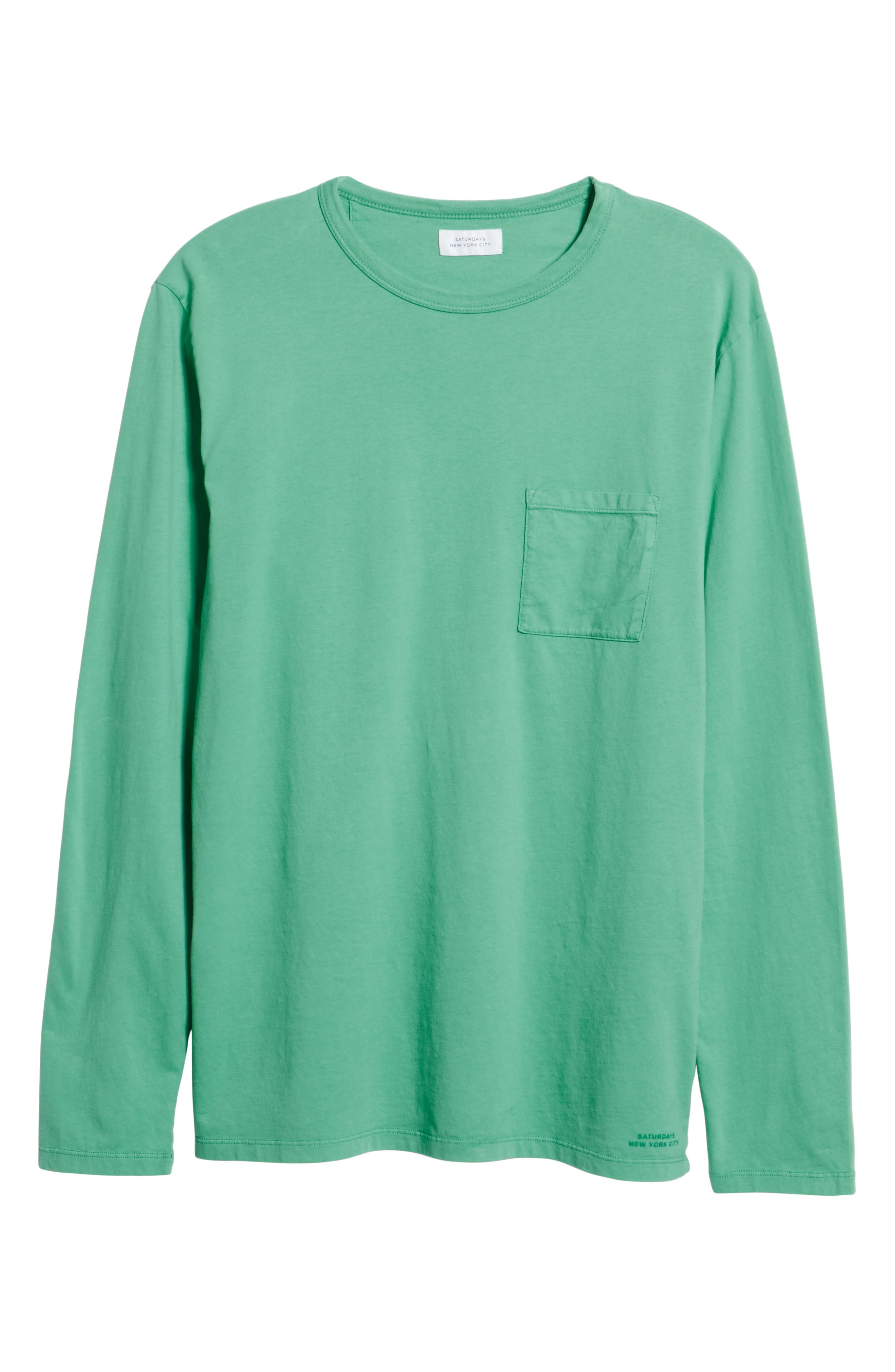James Pima Long Sleeve Pocket T-Shirt,                             Alternate thumbnail 6, color,                             SEAFOAM GREEN