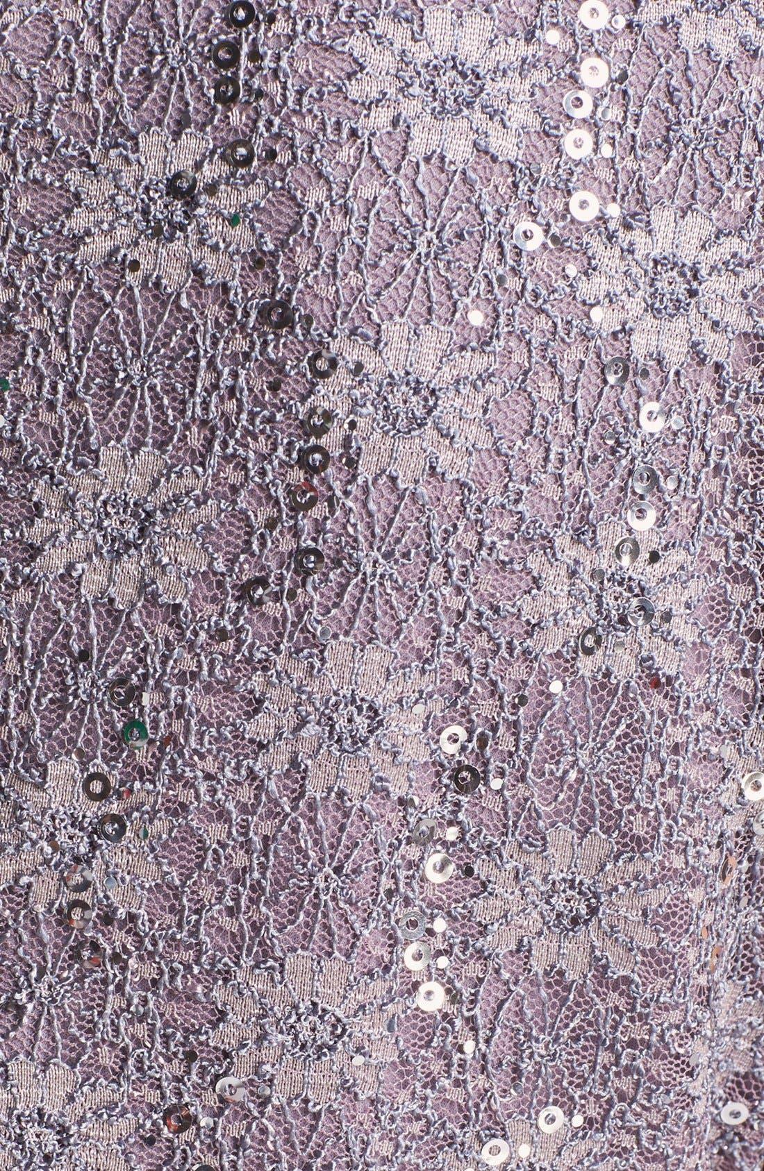 Sequin Lace Overlay Sheath Dress,                             Alternate thumbnail 2, color,                             031