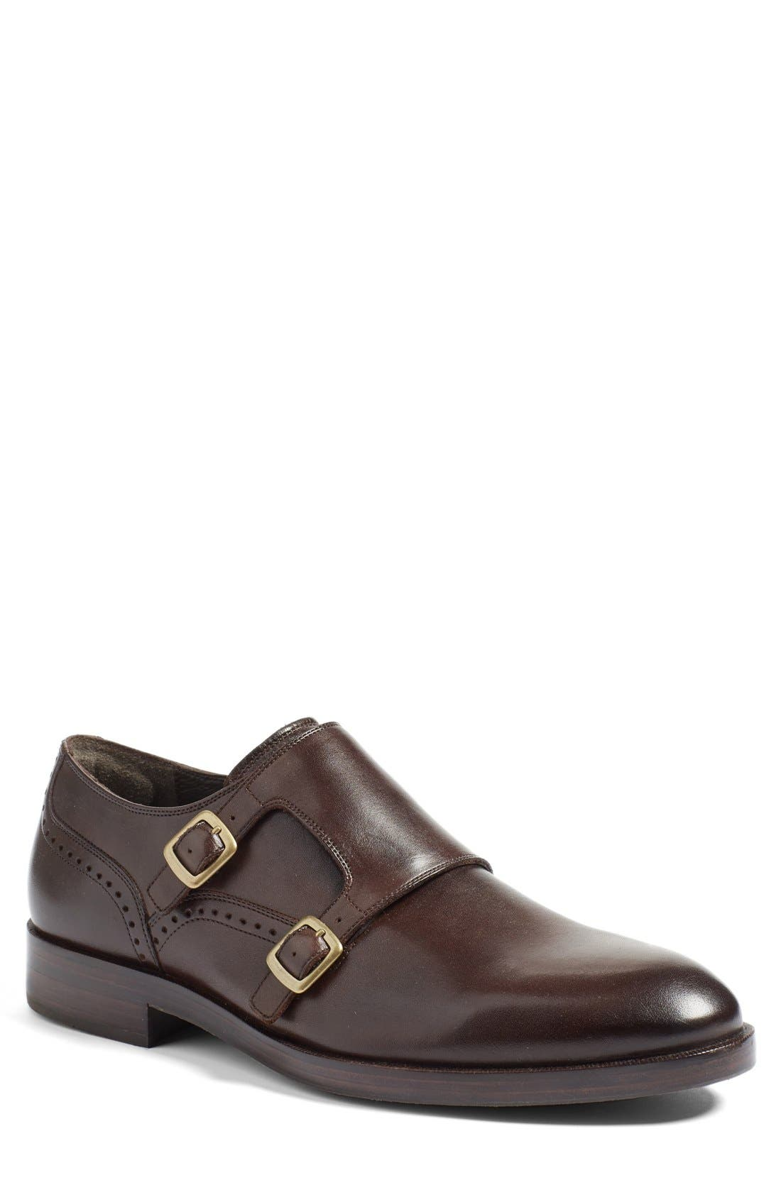 'Harrison' Double Monk Strap Shoe,                             Alternate thumbnail 5, color,                             205
