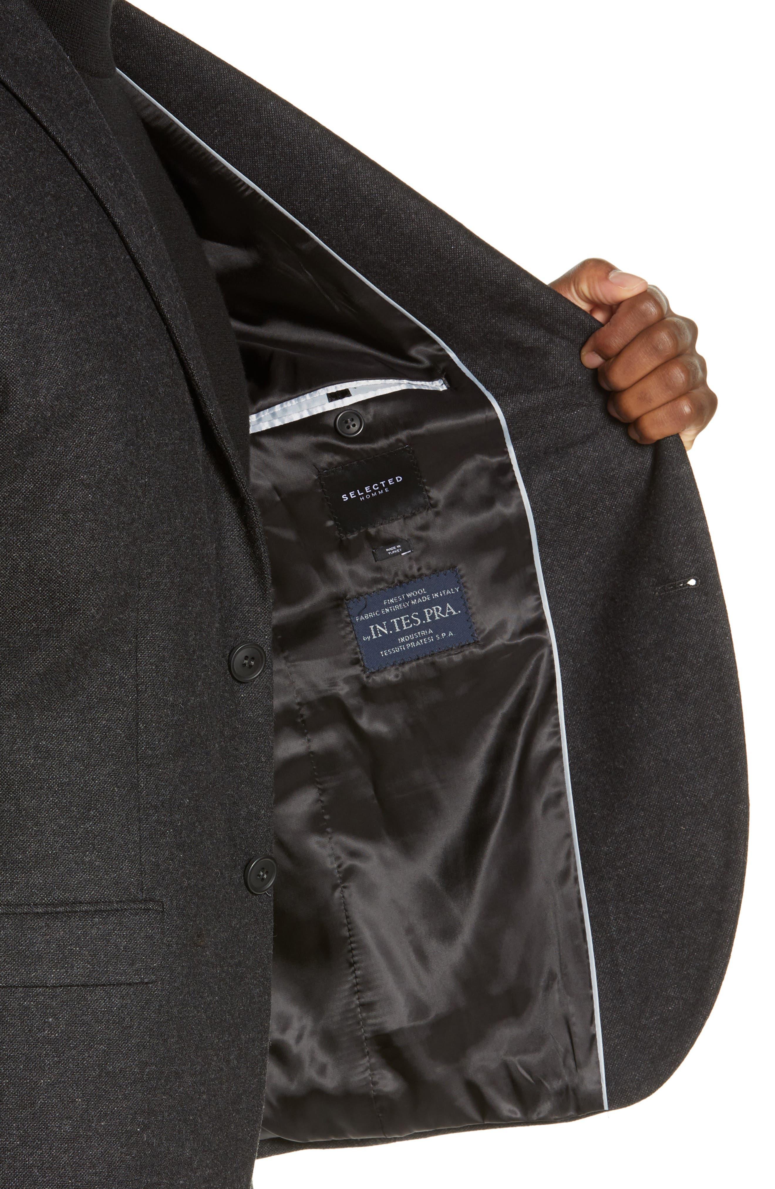 Slim Fit Myloiver Wool Blend Blazer,                             Alternate thumbnail 4, color,                             DARK GREY