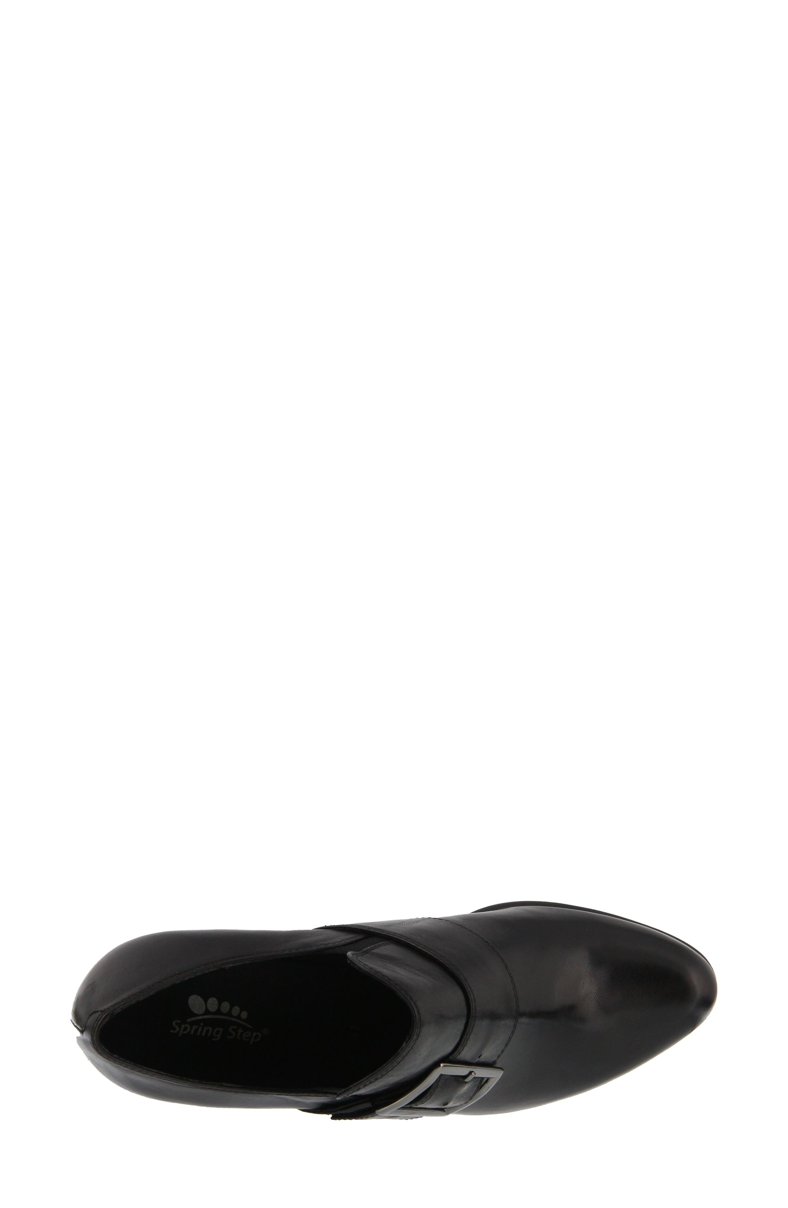 Dayana Bootie,                             Alternate thumbnail 4, color,                             BLACK LEATHER