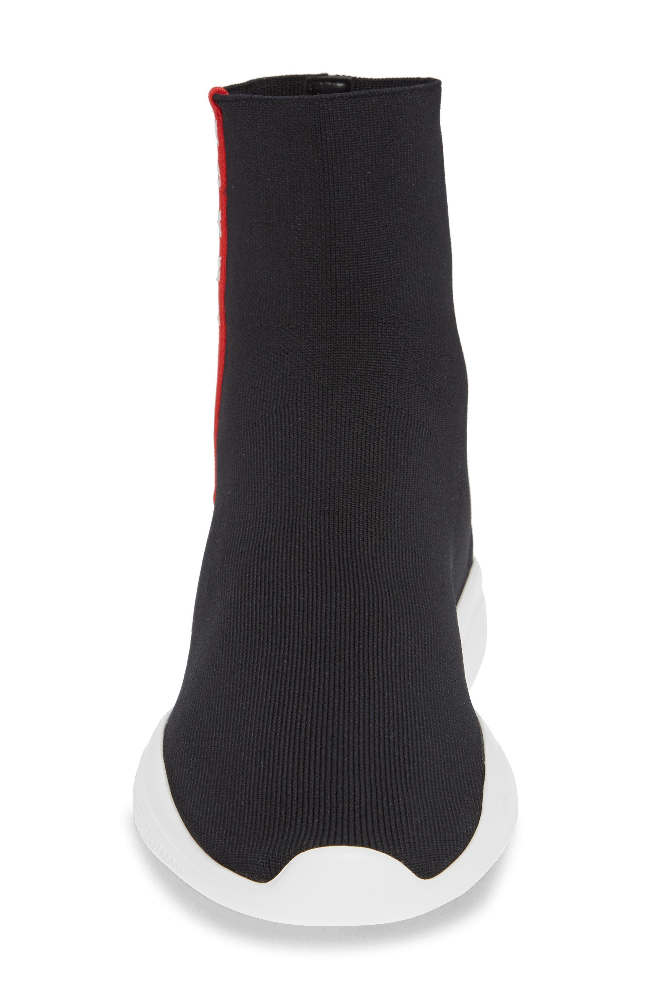 Logo Band Sock Sneaker,                             Alternate thumbnail 4, color,                             BLACK