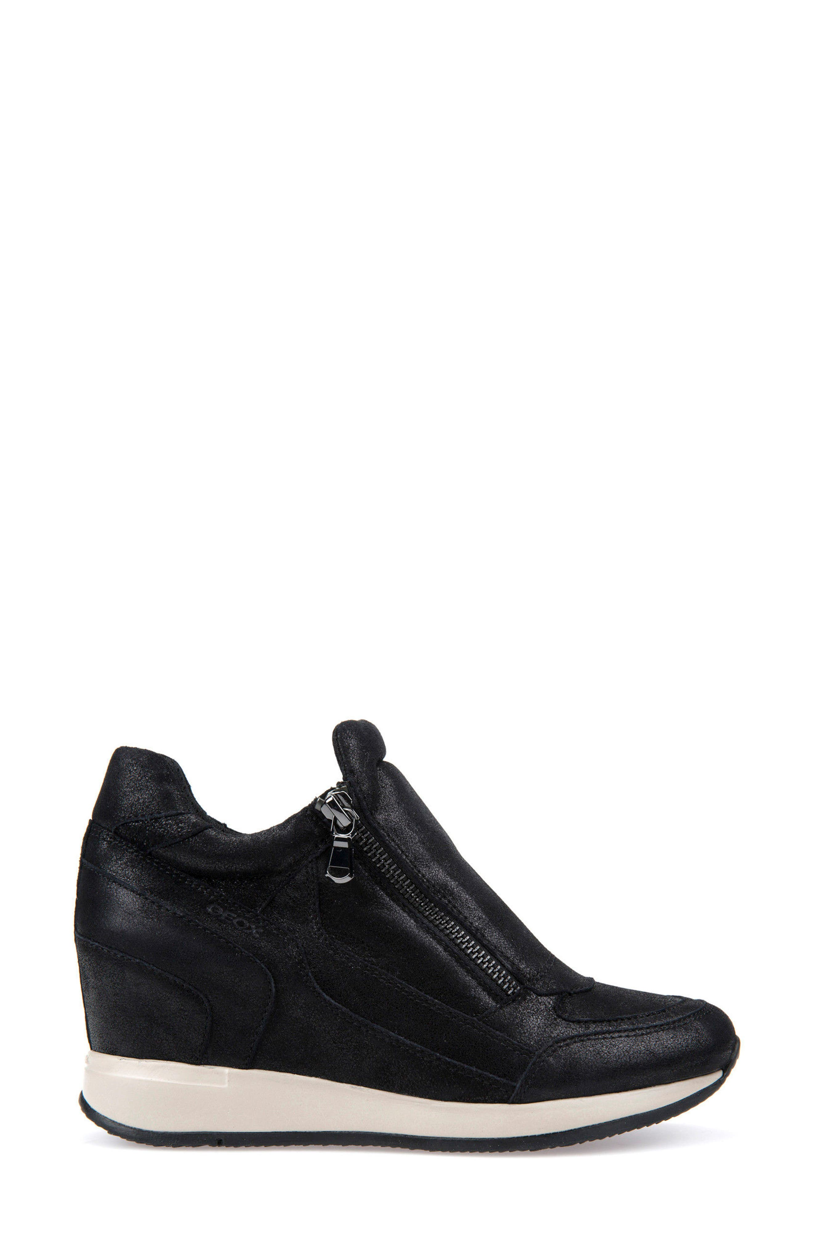 Nydame Wedge Sneaker,                             Alternate thumbnail 3, color,                             001