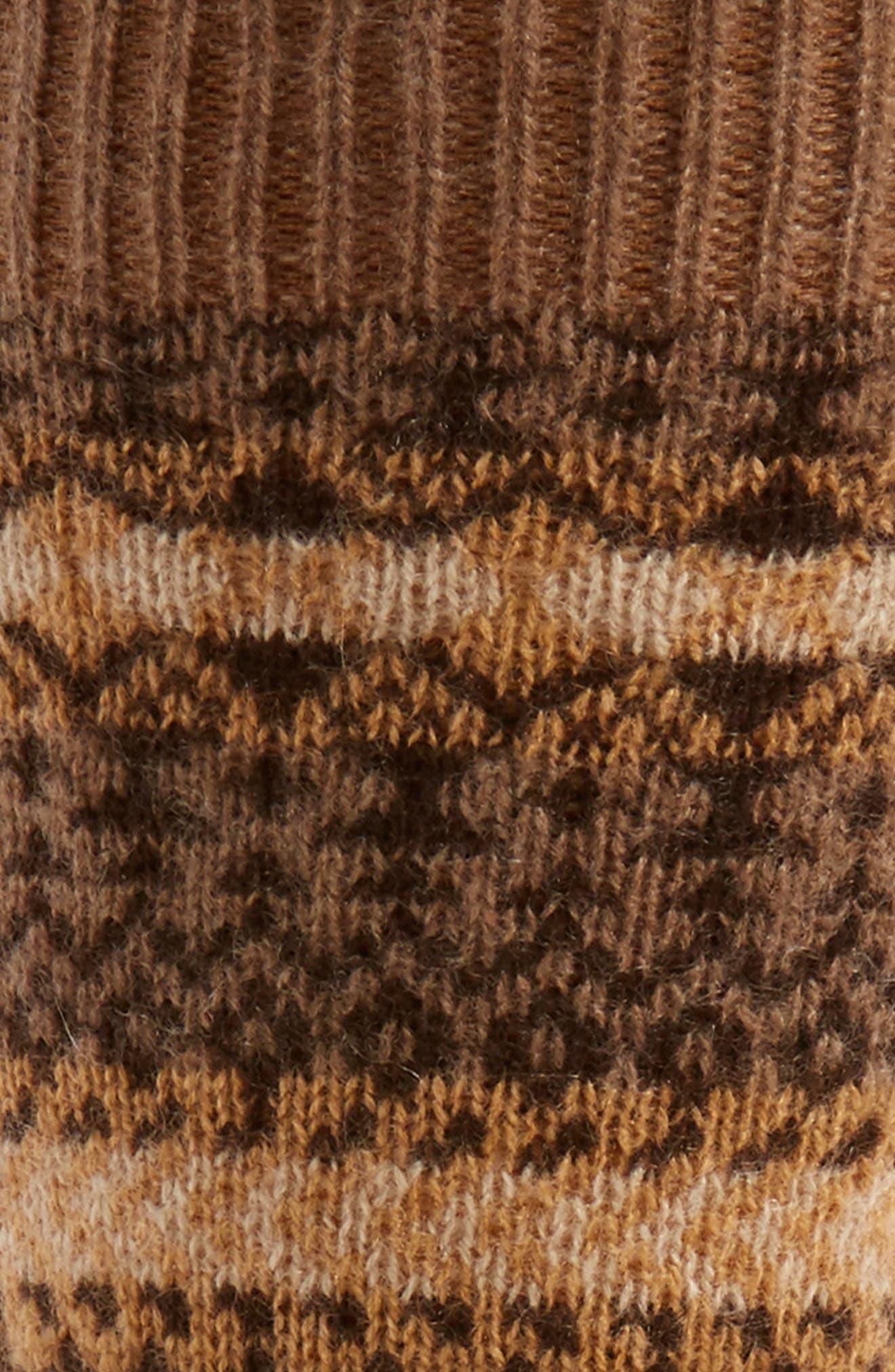 Fair Isle Cashmere Socks,                             Alternate thumbnail 2, color,                             261