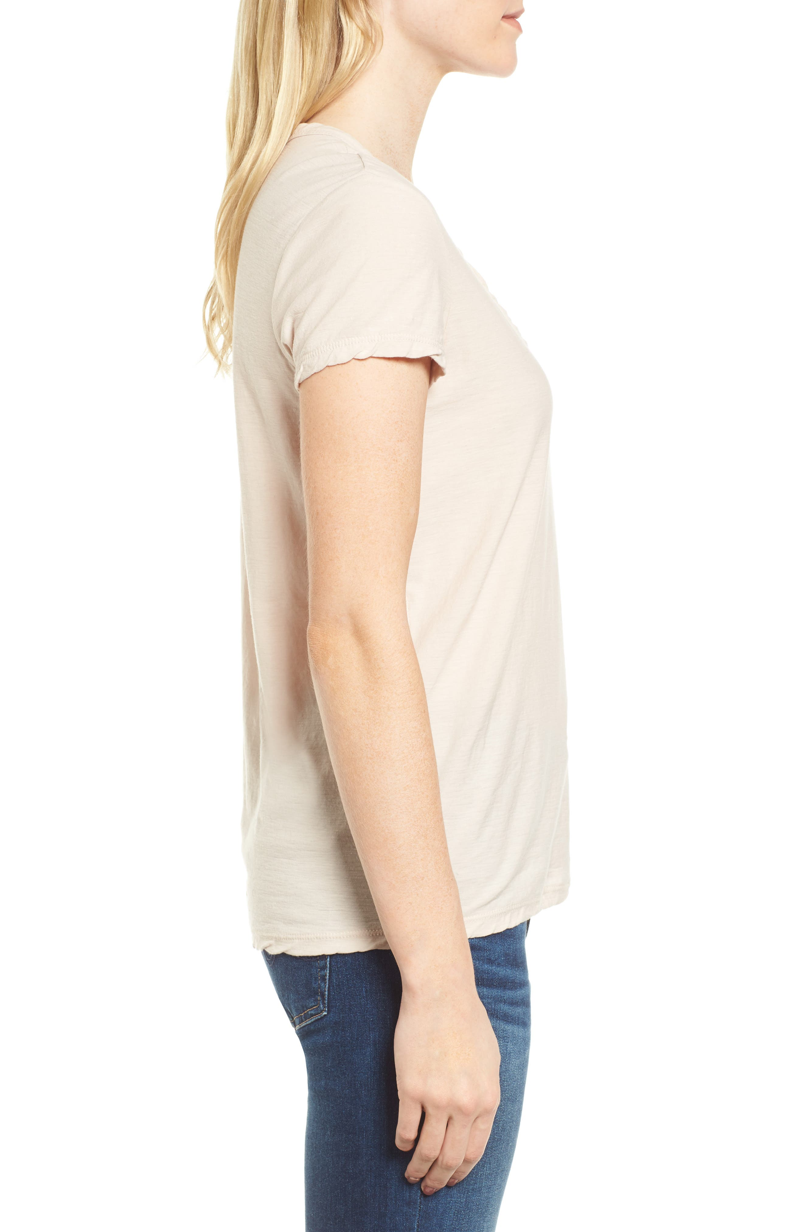 Deep V-Neck Tee,                             Alternate thumbnail 7, color,