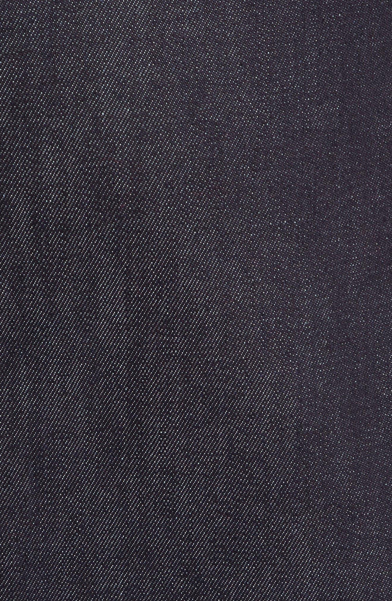 poppy denim skirt,                             Alternate thumbnail 5, color,                             429