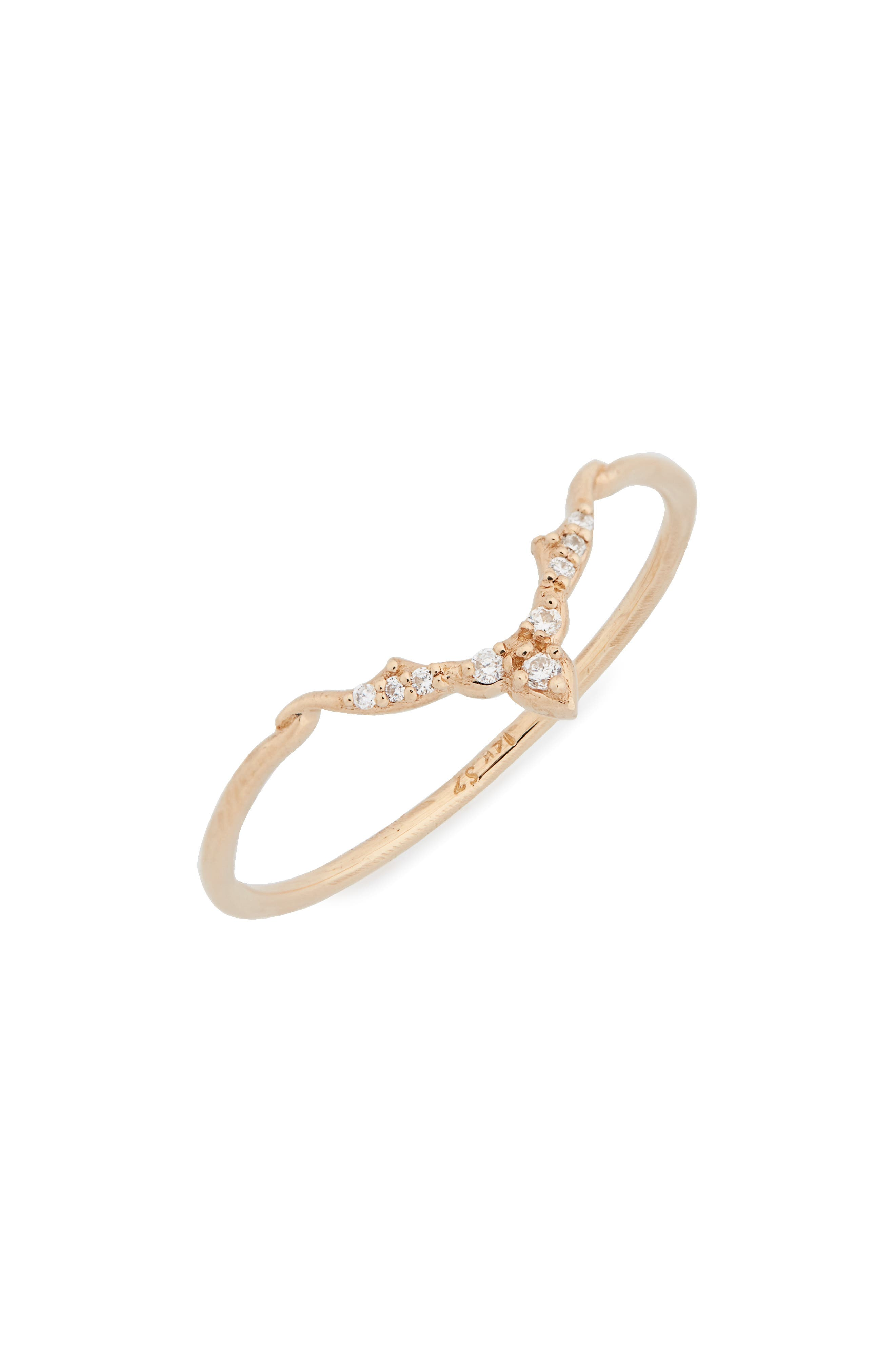 Altair Diamond Ring,                             Main thumbnail 1, color,                             GOLD