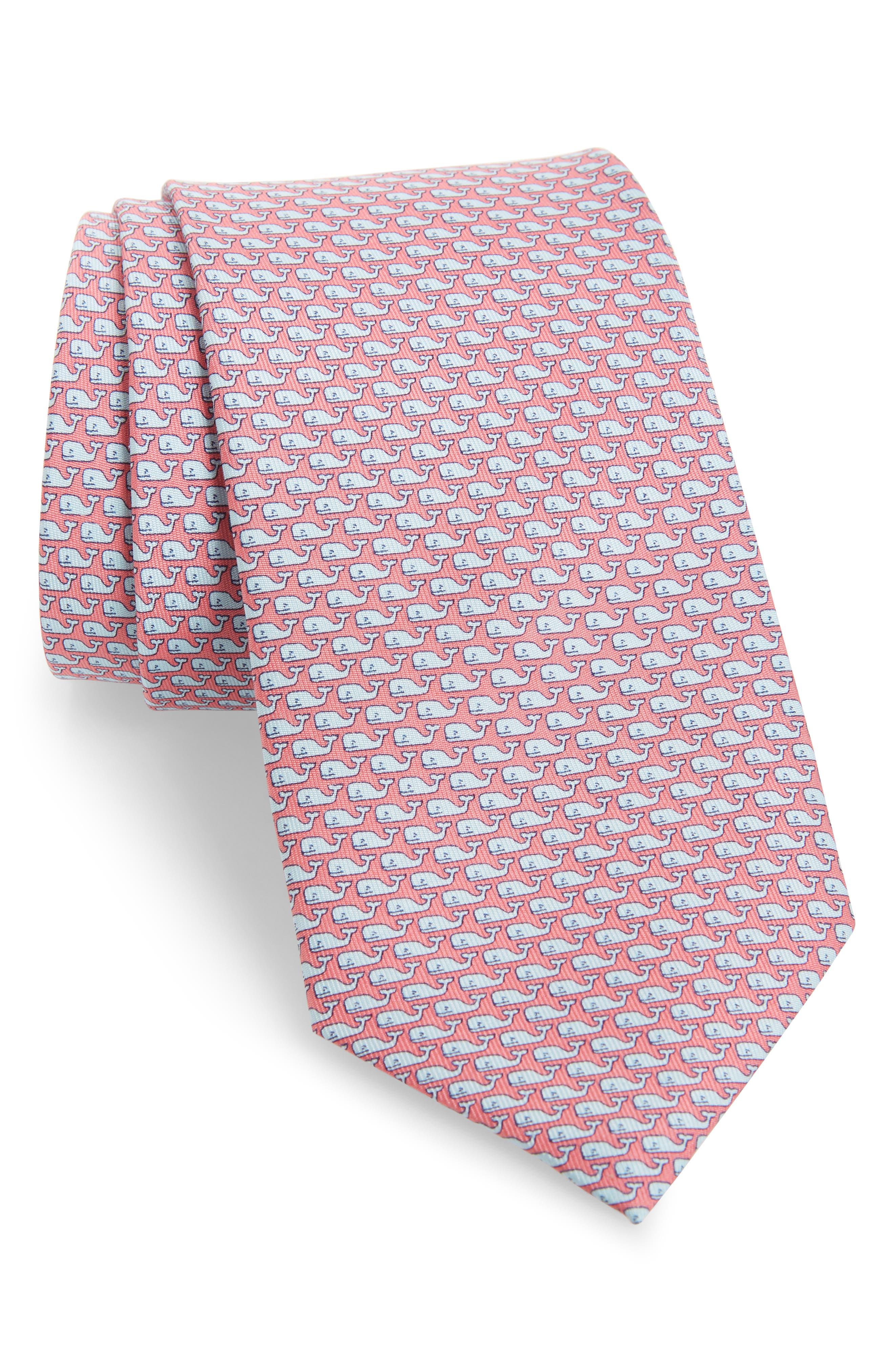 Whale Silk Tie,                         Main,                         color, 670