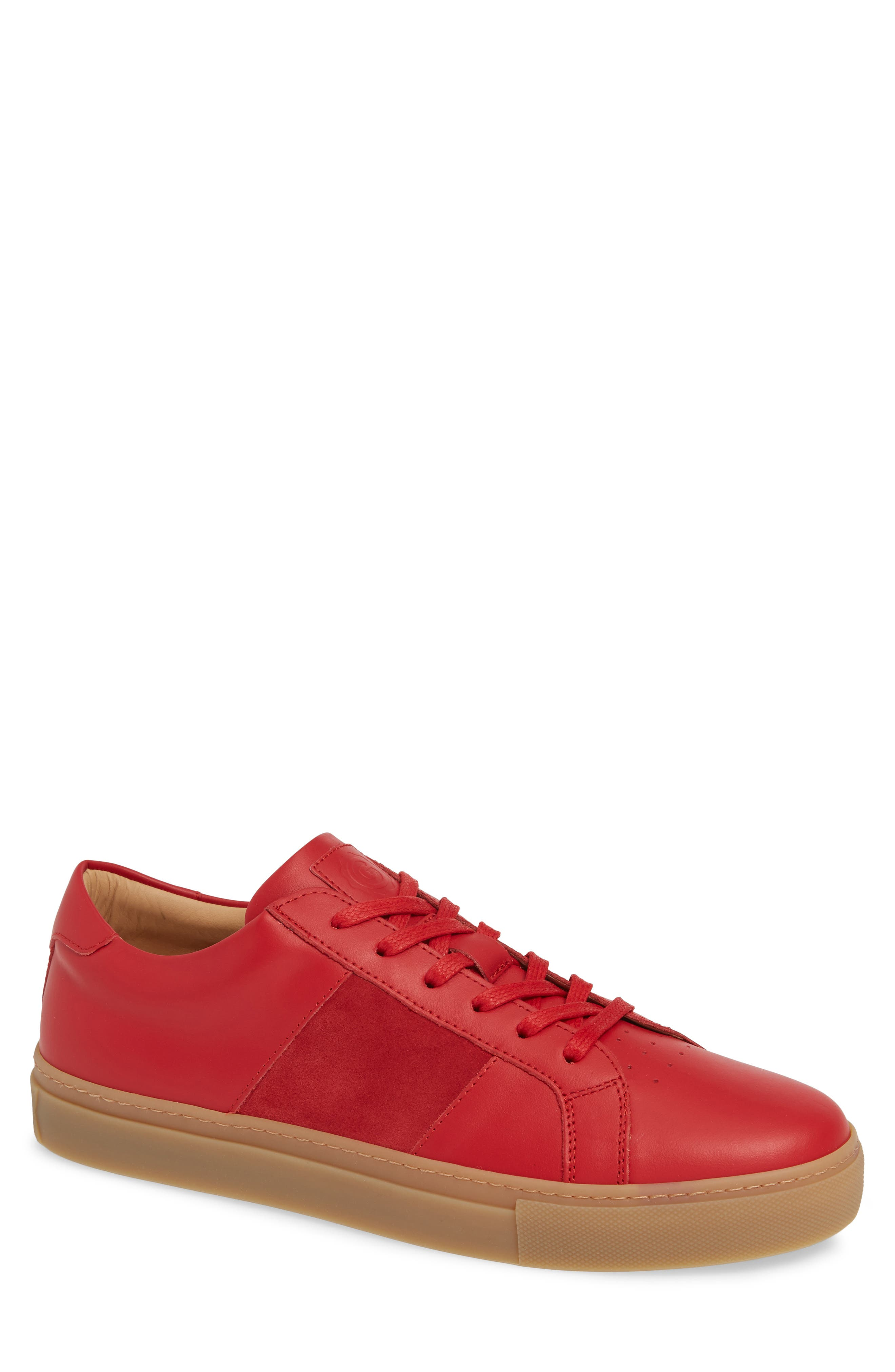 Royale Sneaker, Main, color, RED/ GUM LEATHER