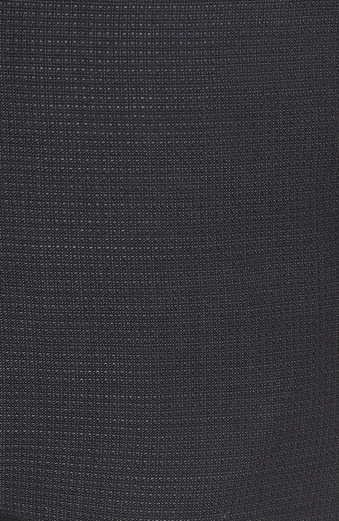'Netting' Wool Dress Pants,                             Alternate thumbnail 4, color,                             001