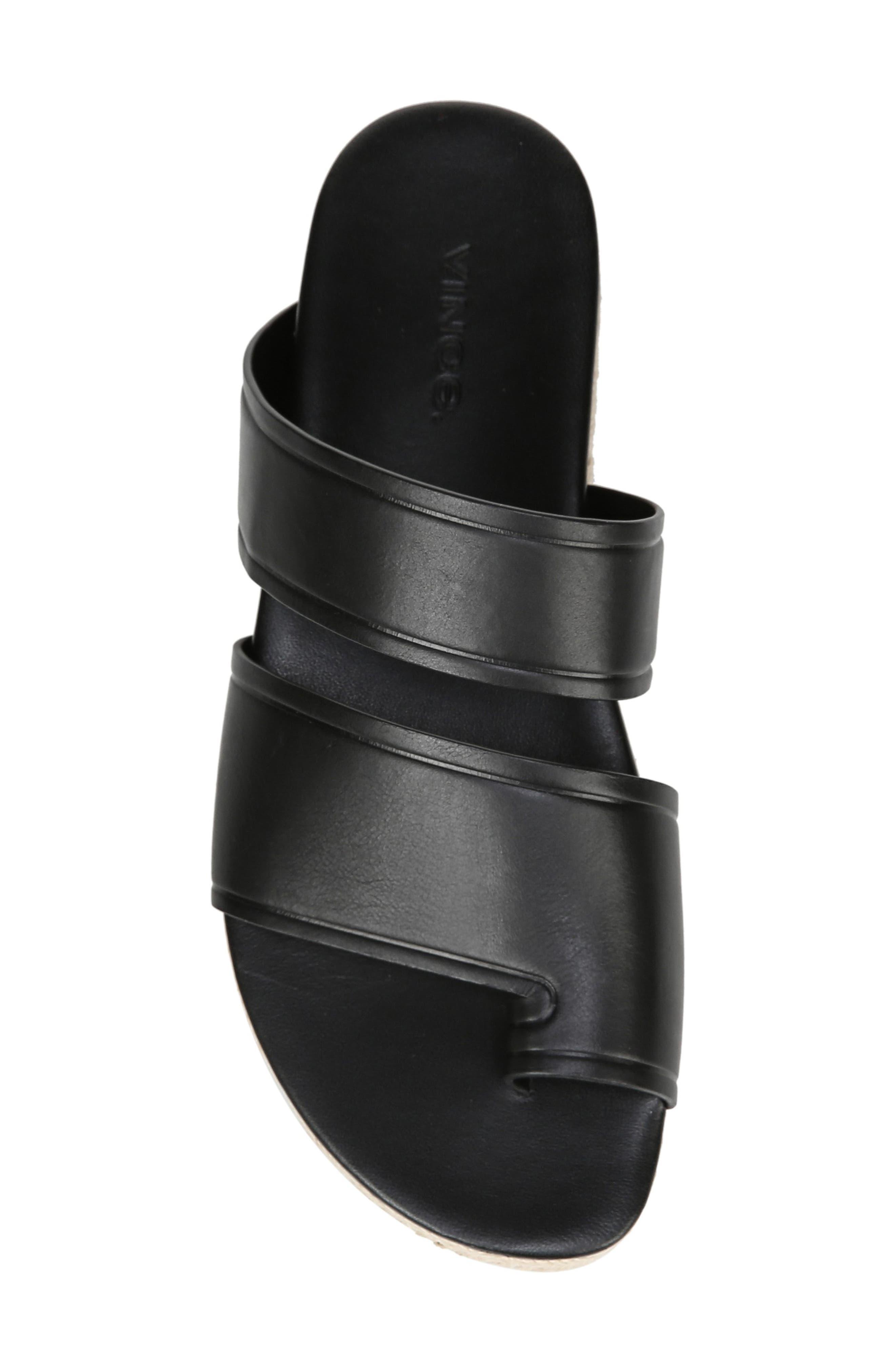 VINCE,                             Floyd Platform Slide Sandal,                             Alternate thumbnail 5, color,                             BLACK