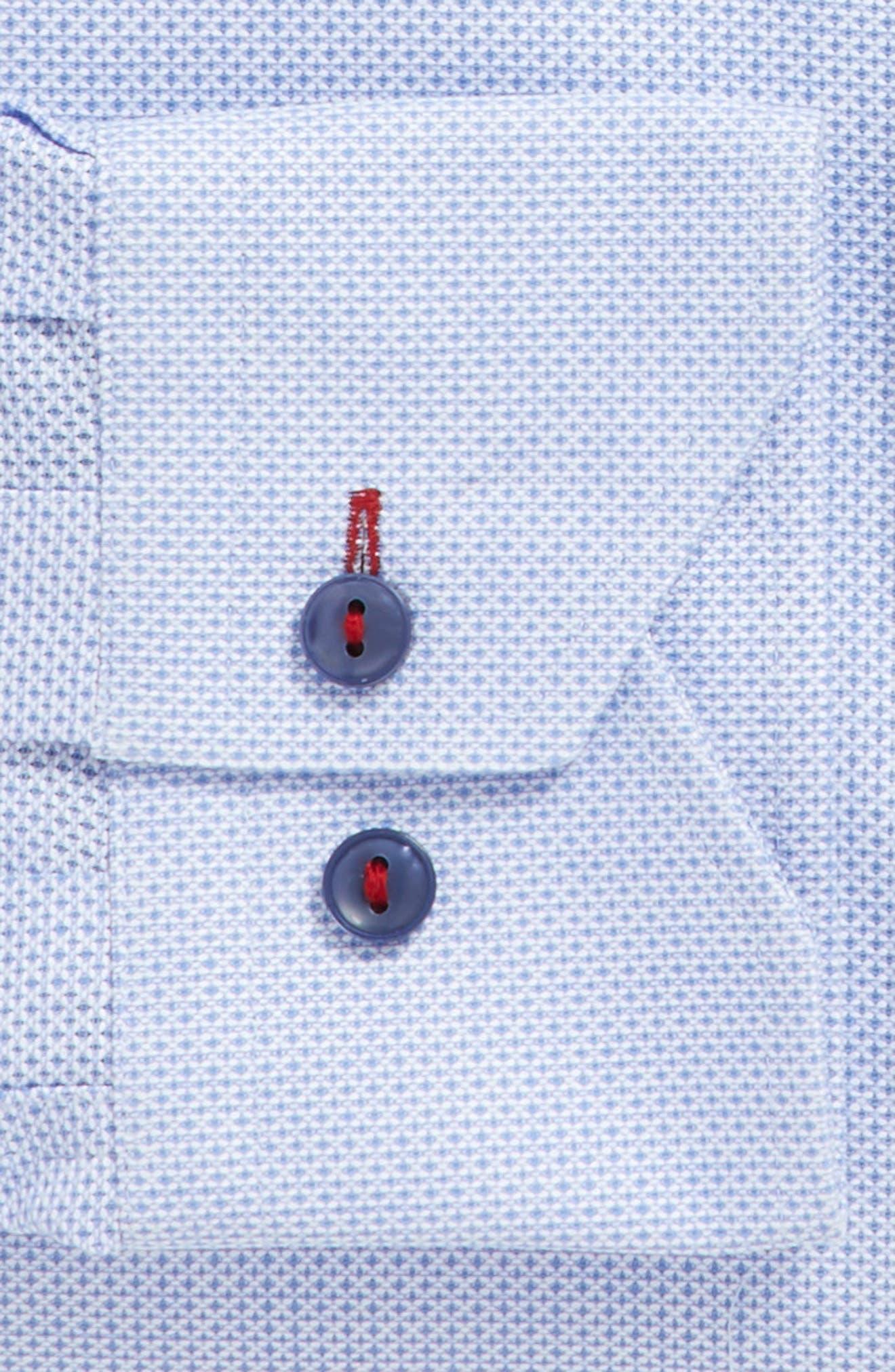 Trim Fit Geometric Dress Shirt,                             Alternate thumbnail 3, color,                             450