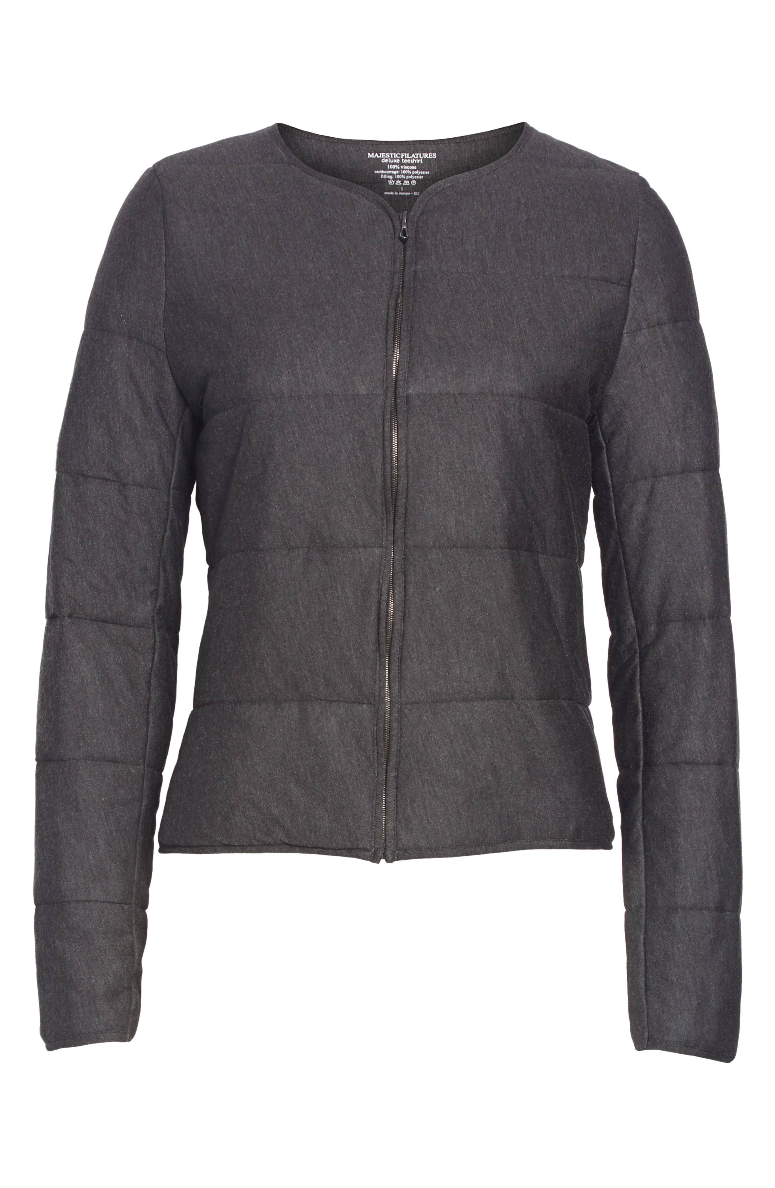 Quilted Bolero Jacket,                             Alternate thumbnail 5, color,                             ANTHRACITE