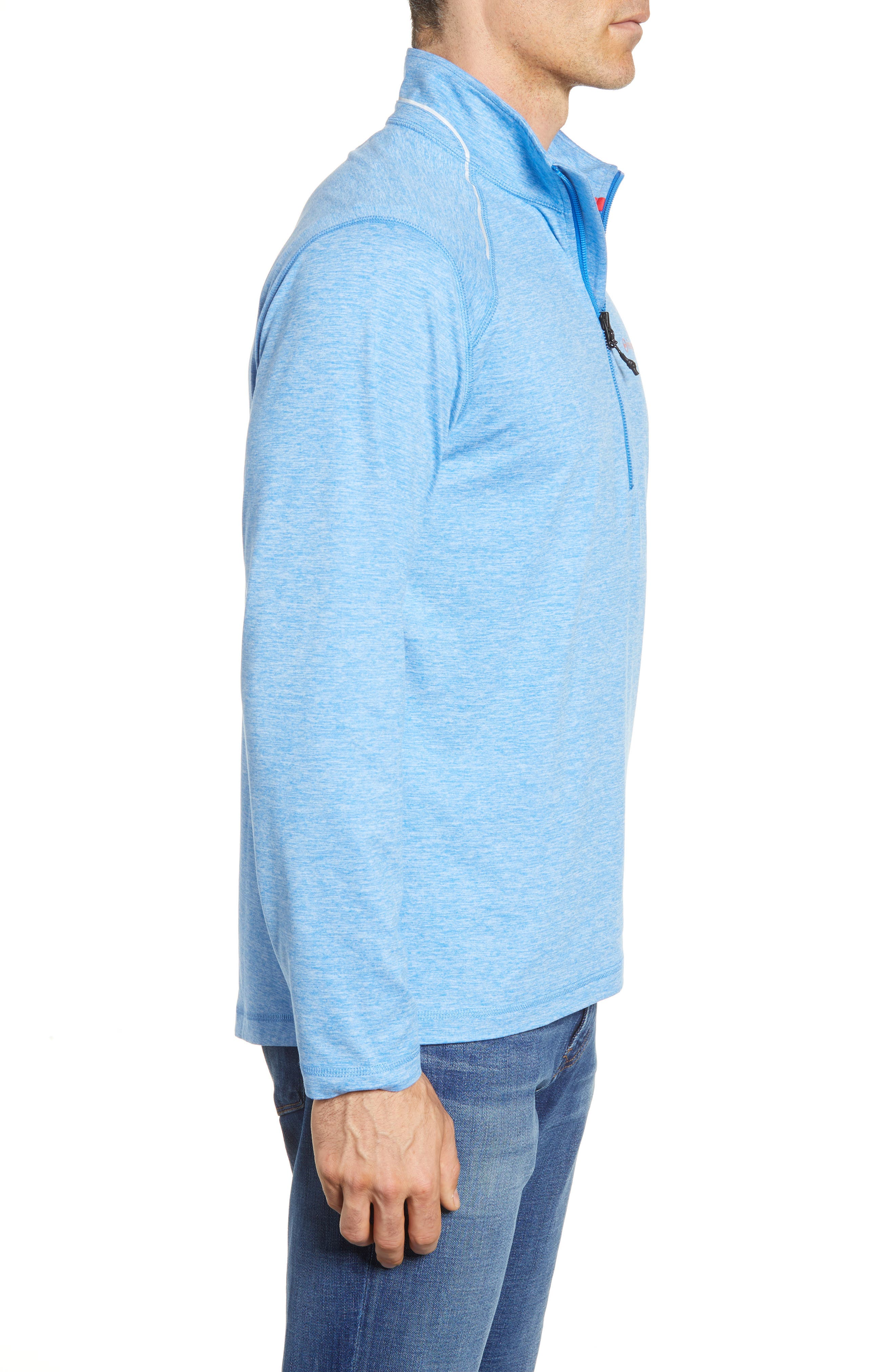 Performance Half Zip Pullover,                             Alternate thumbnail 8, color,